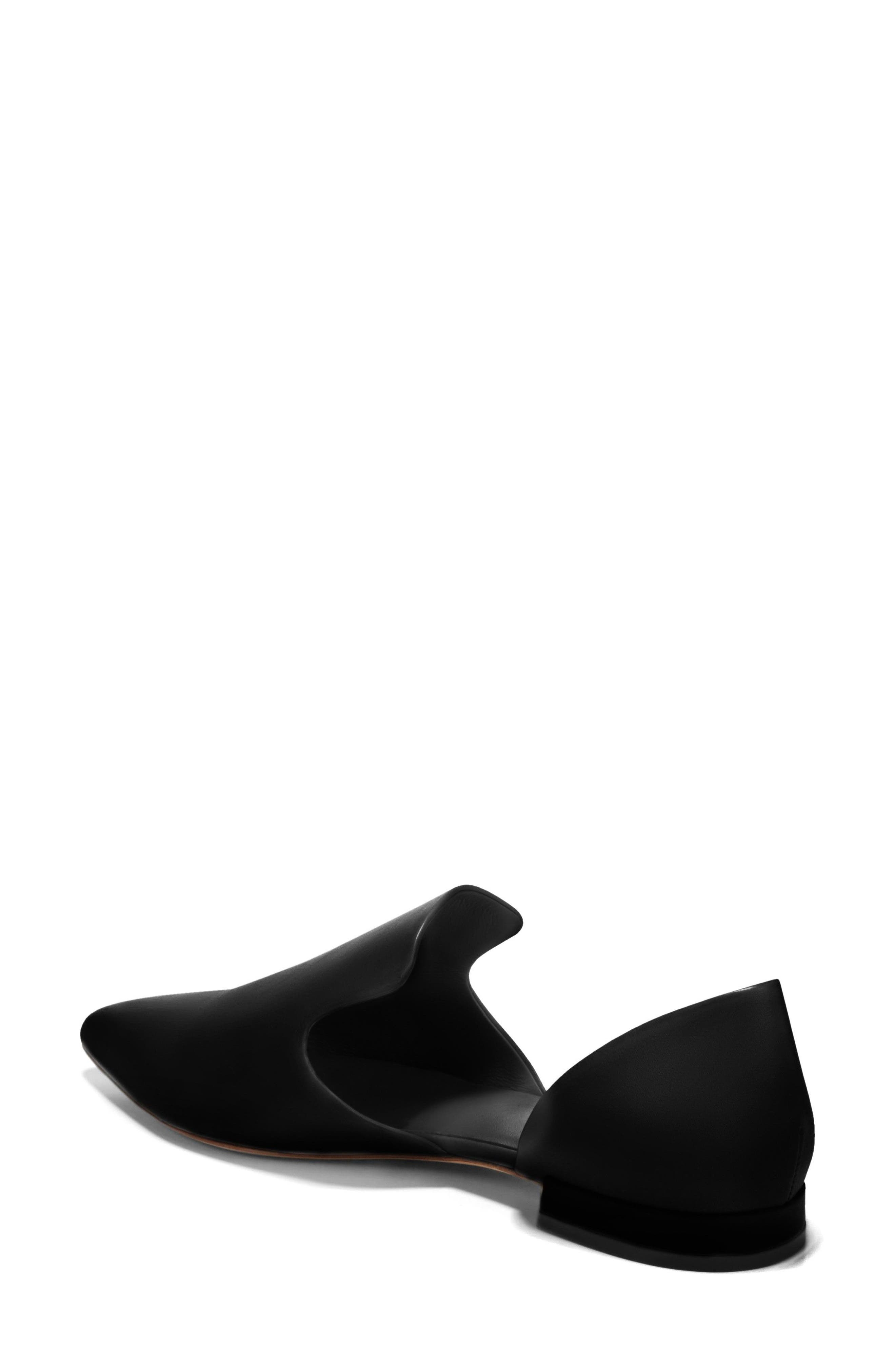 Damris d'Orsay Loafer,                             Alternate thumbnail 2, color,                             BLACK SIVIGLIA CALF