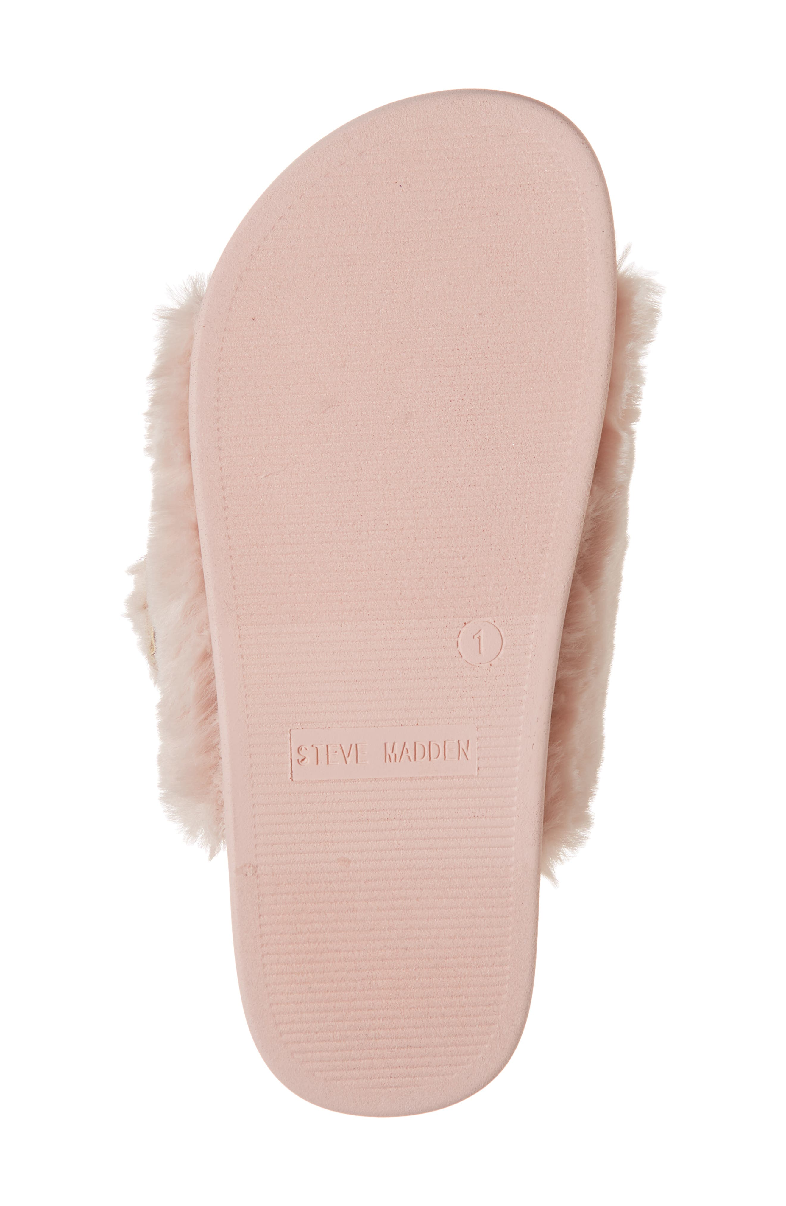 Faux Fur Slide Sandal,                             Alternate thumbnail 6, color,                             650