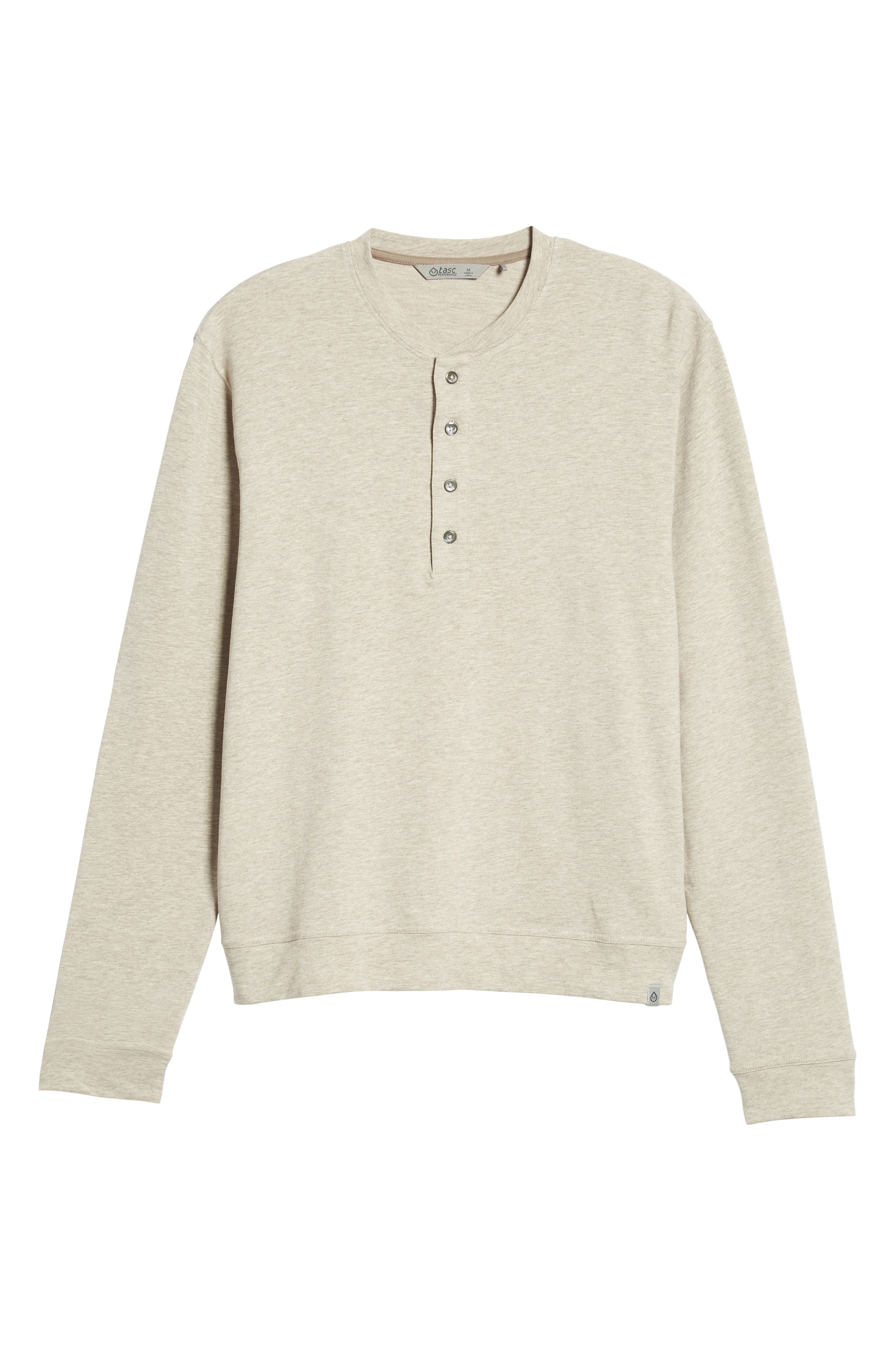 Legacy Heathered Henley,                             Alternate thumbnail 6, color,                             CRATER HEATHER