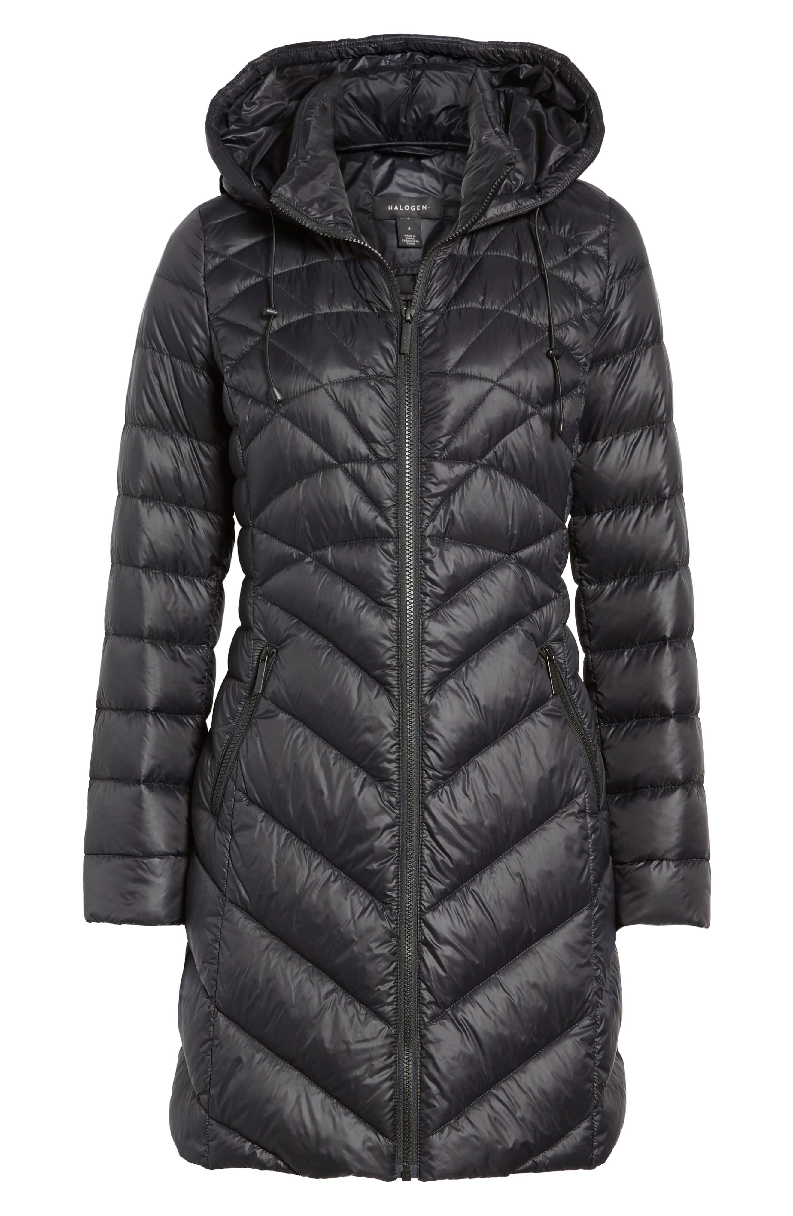 Hooded Down Puffer Jacket,                             Alternate thumbnail 5, color,                             001