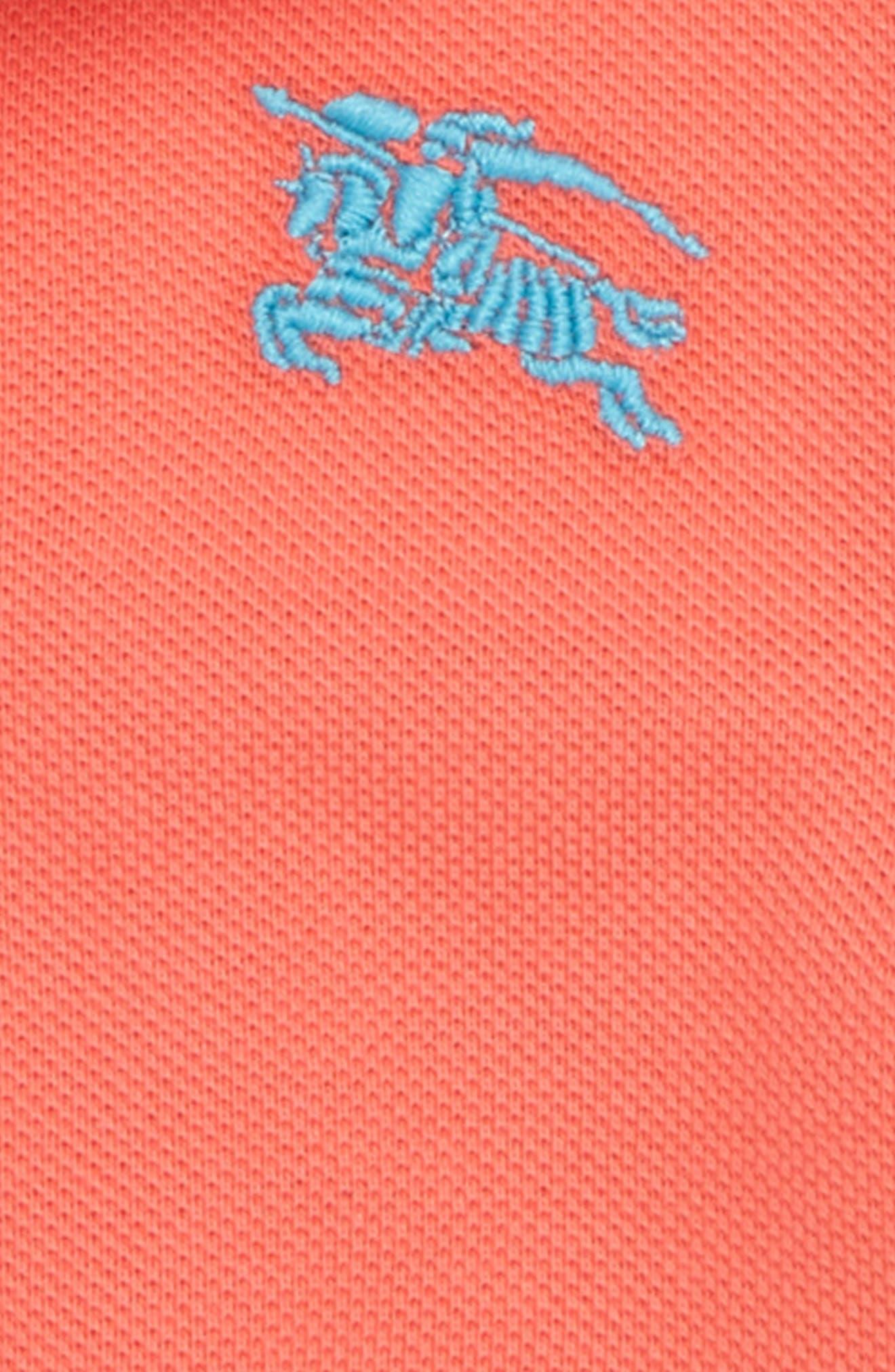 Palmer Piqué Polo,                             Alternate thumbnail 2, color,                             BRIGHT CORAL PINK