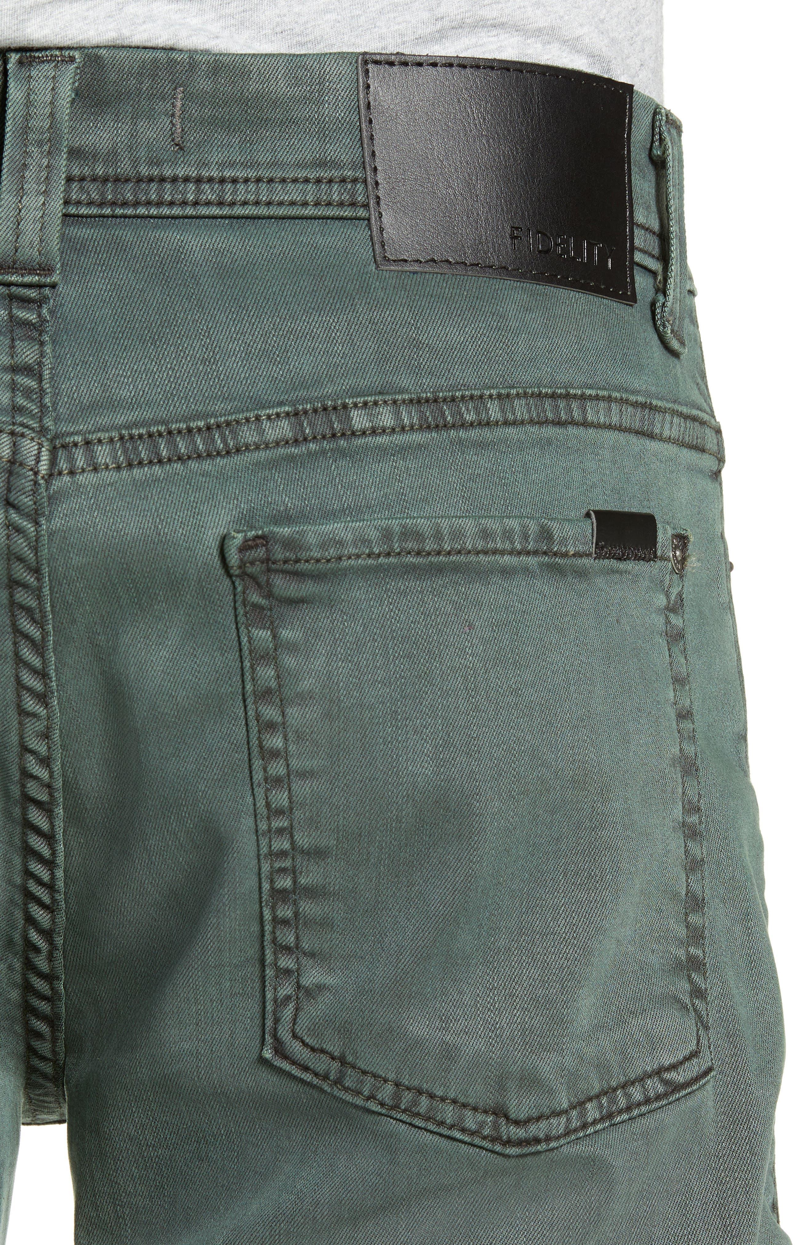 Jimmy Slim Straight Leg Pants,                             Alternate thumbnail 4, color,                             SPRUCE