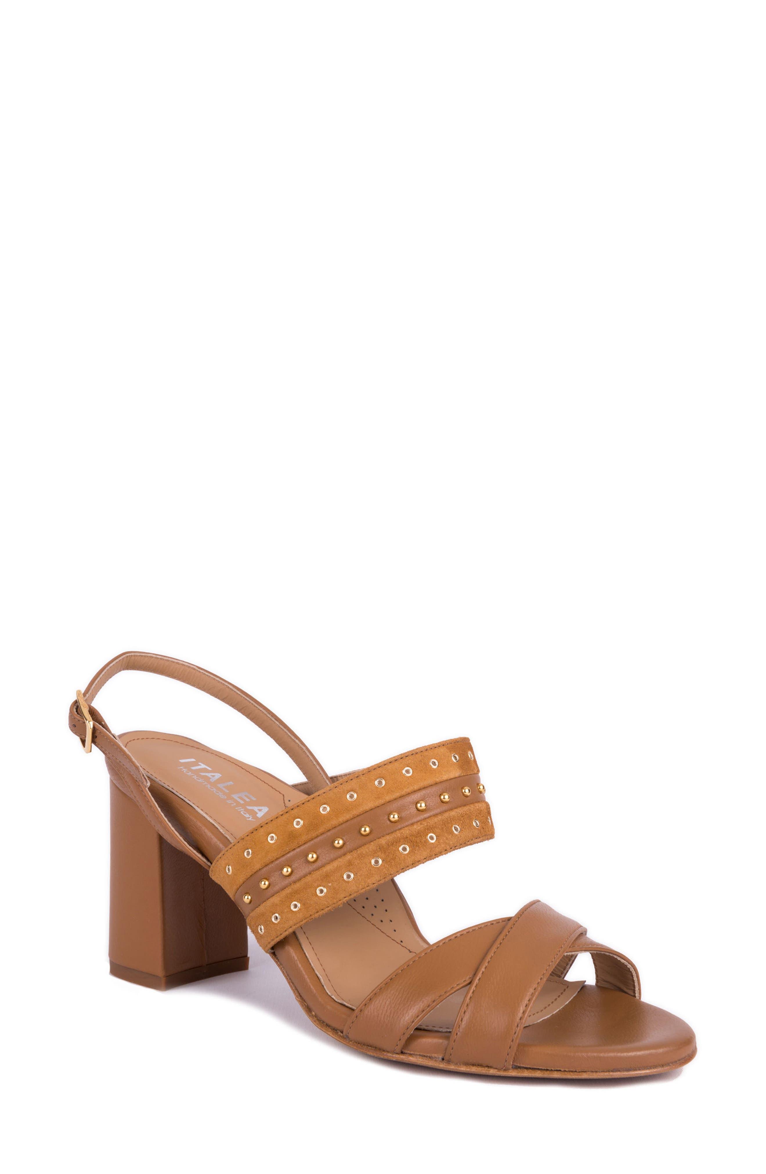 Soldani Studded Slingback Sandal,                         Main,                         color,