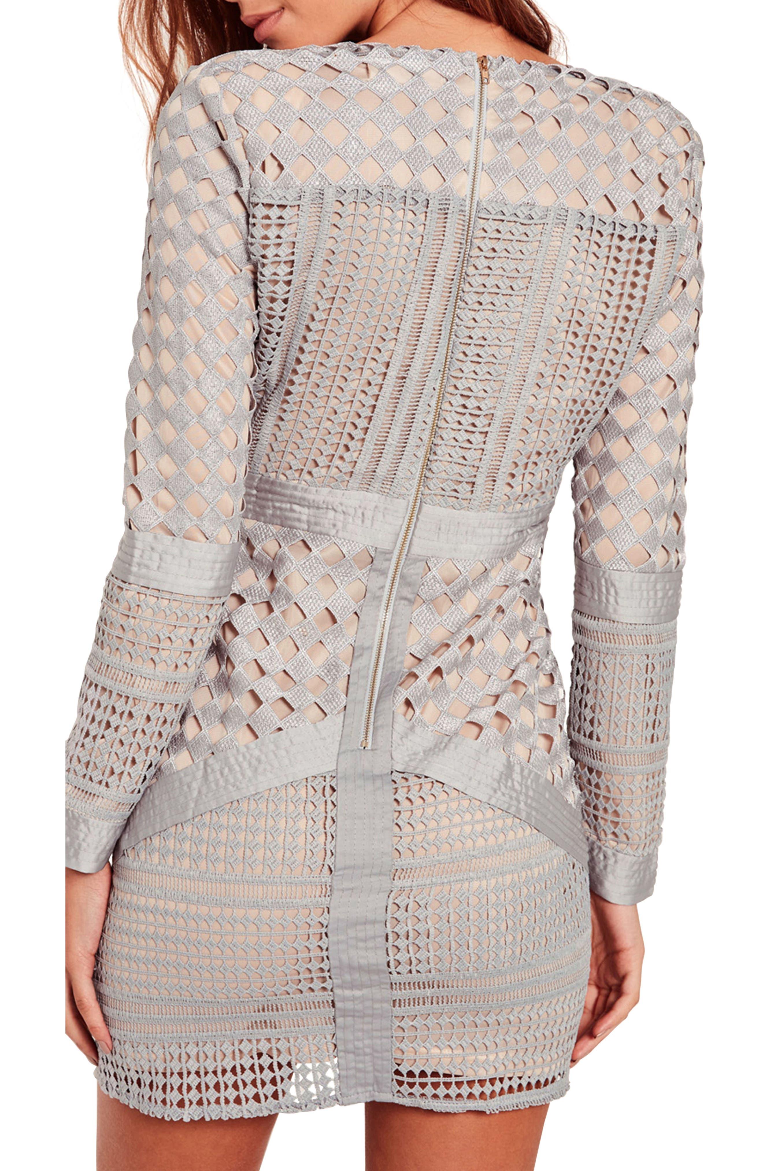 Lace Body-Con Dress,                             Alternate thumbnail 2, color,                             060