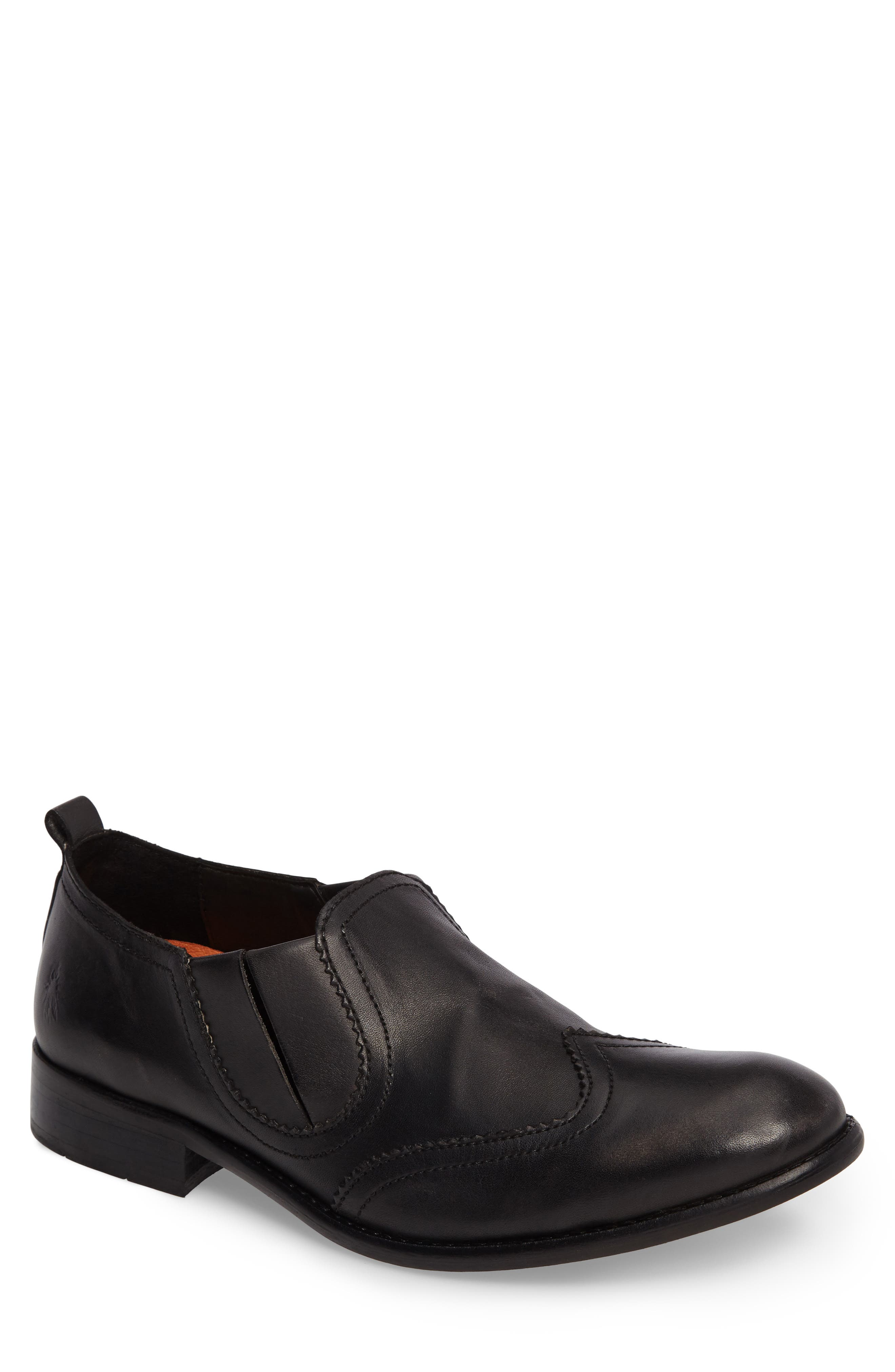 Wyat Wingtip Slip-On Loafer,                             Main thumbnail 1, color,                             001