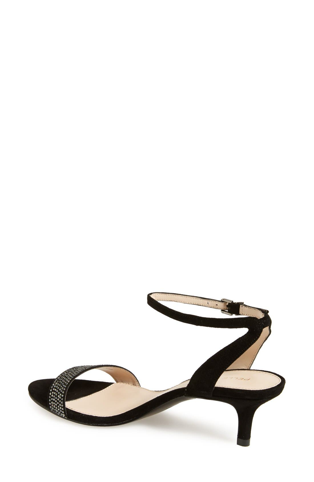 'Fabia' Sandal,                             Alternate thumbnail 3, color,                             BLACK SUEDE