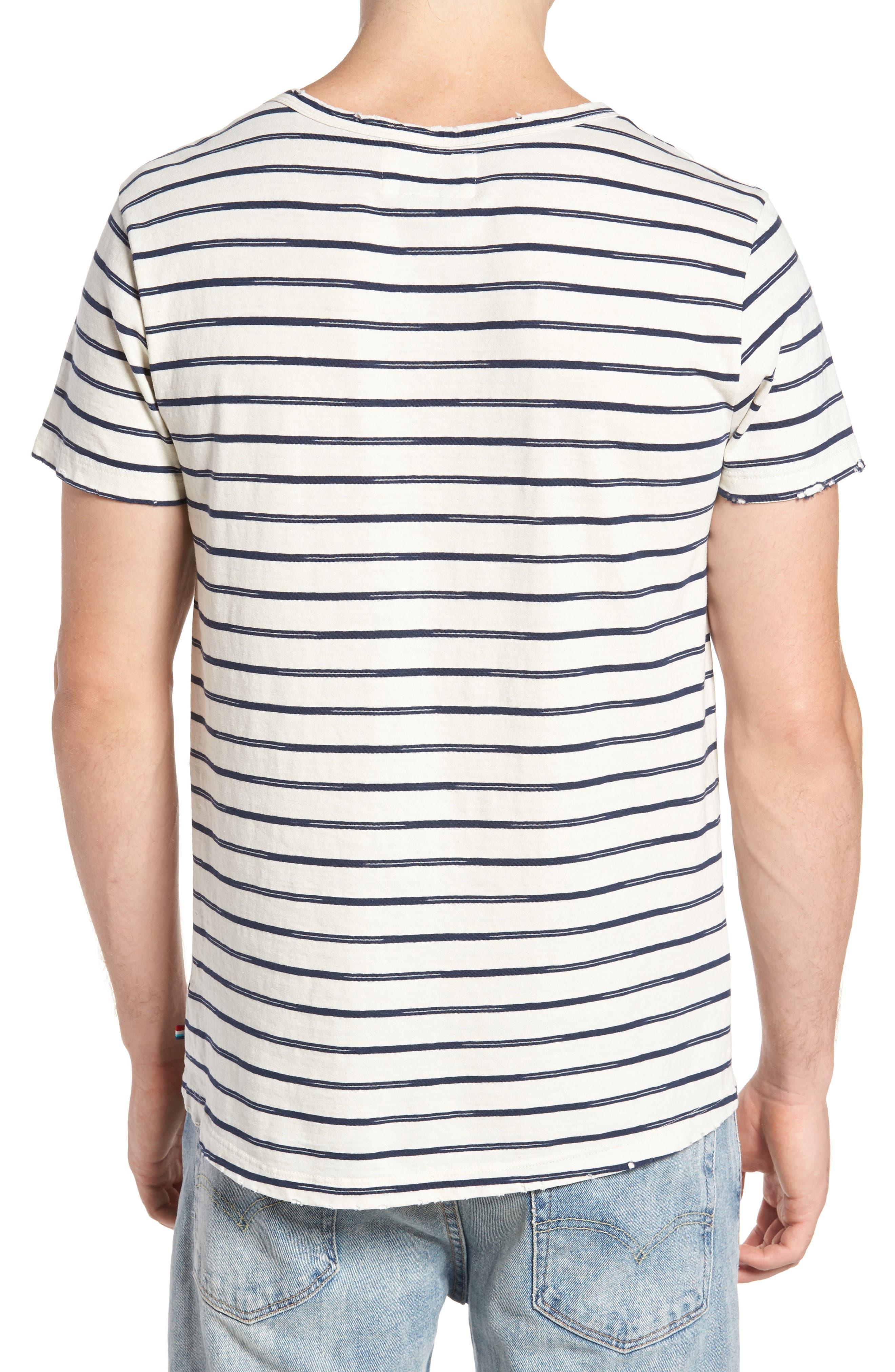 Vintage Stripe Pocket T-Shirt,                             Alternate thumbnail 2, color,                             101