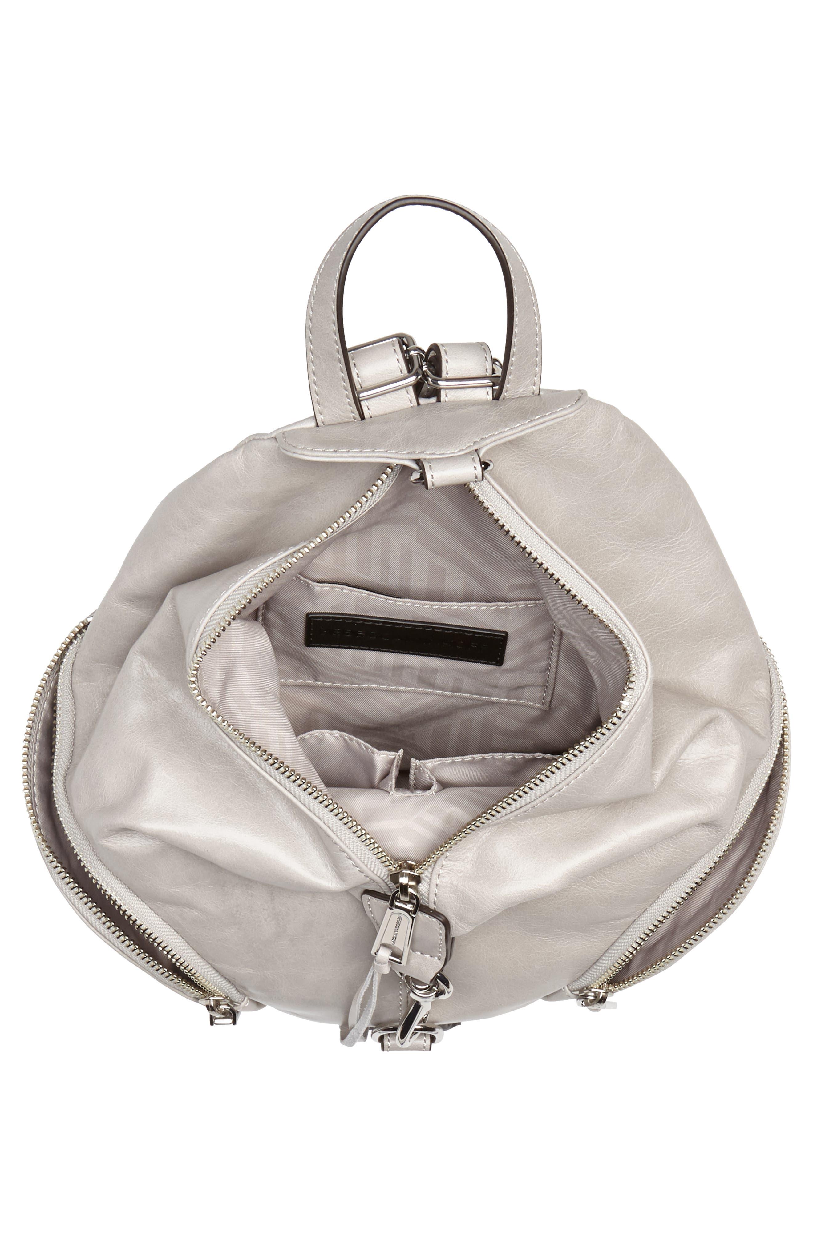 Medium Julian Leather Backpack,                             Alternate thumbnail 4, color,                             090