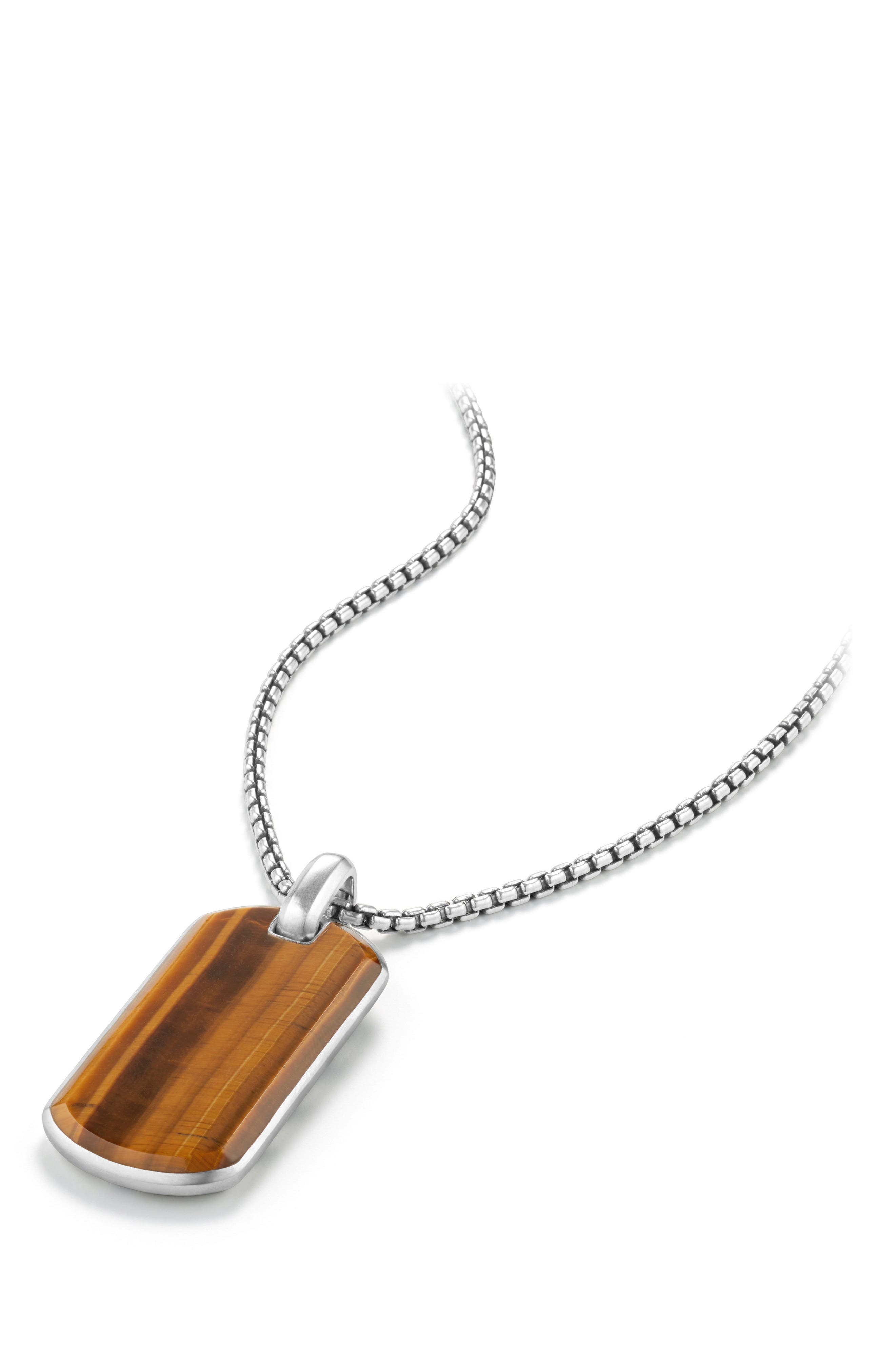 Exotic Tigers Eye Stone Tag,                             Alternate thumbnail 3, color,                             TIGERS EYE
