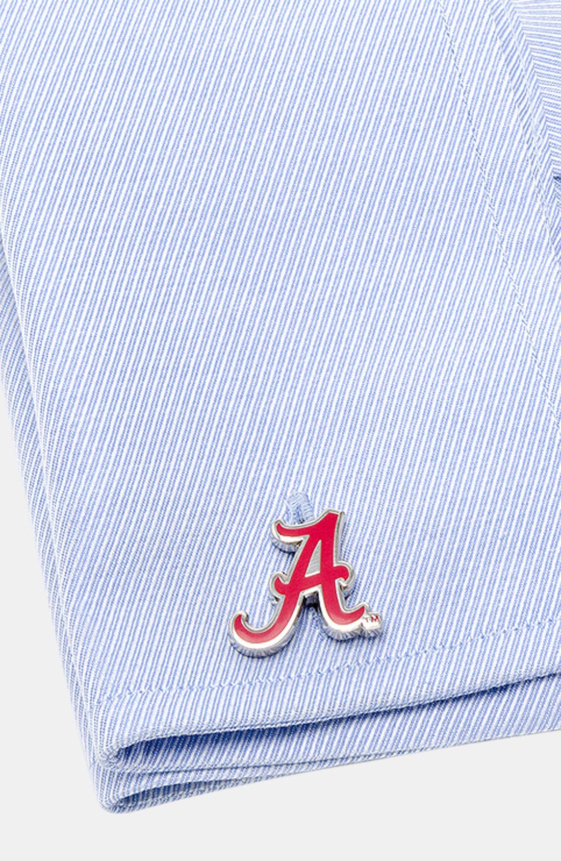 'University of Alabama Crimson Tide' Cuff Links,                             Alternate thumbnail 2, color,                             CRIMSON