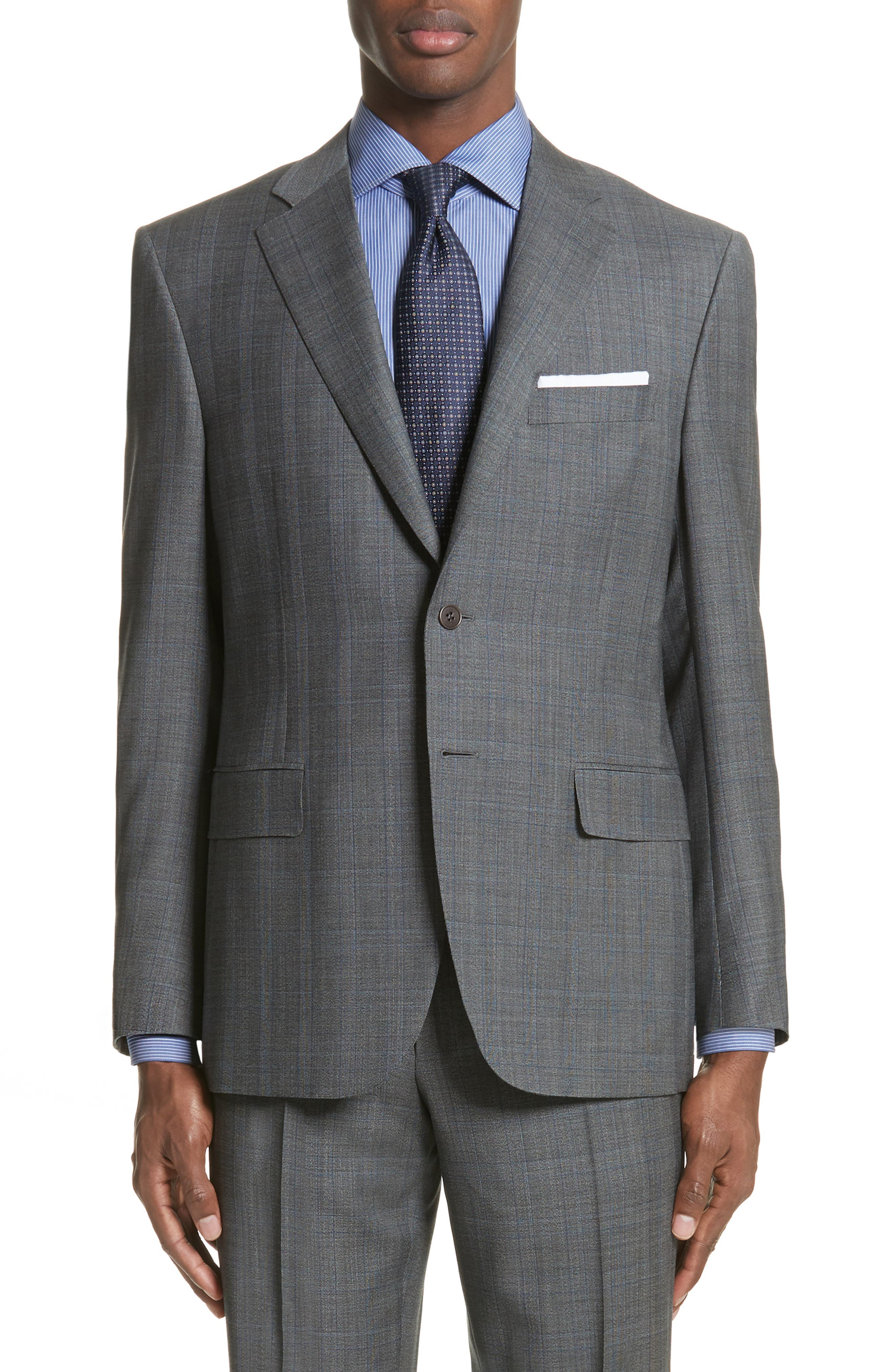 Classic Fit Solid Wool Suit,                             Alternate thumbnail 5, color,                             020
