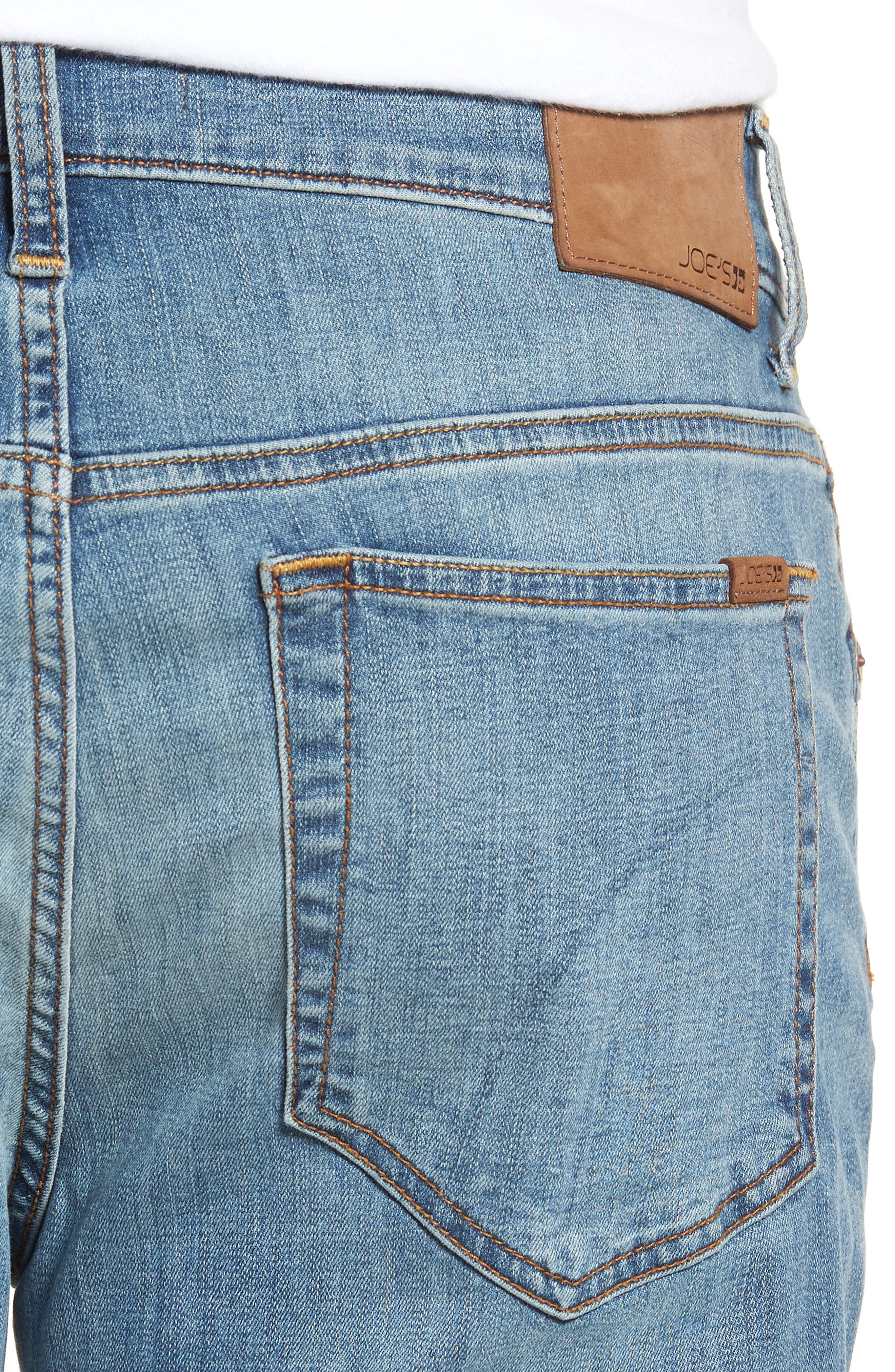 Classic Straight Fit Jeans,                             Alternate thumbnail 4, color,                             REDDING