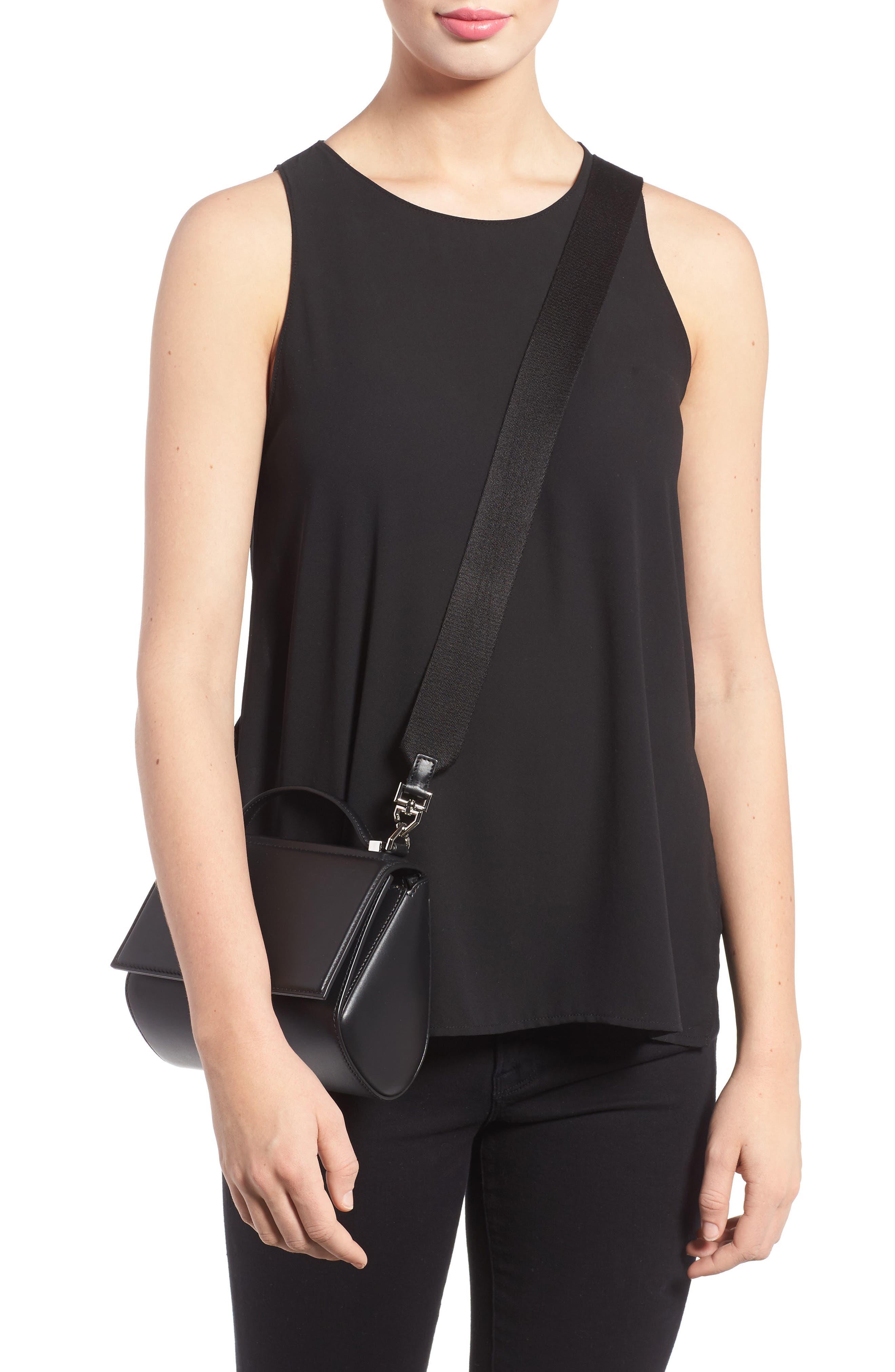 Mini Pandora Box Leather Shoulder Bag,                             Alternate thumbnail 2, color,                             001