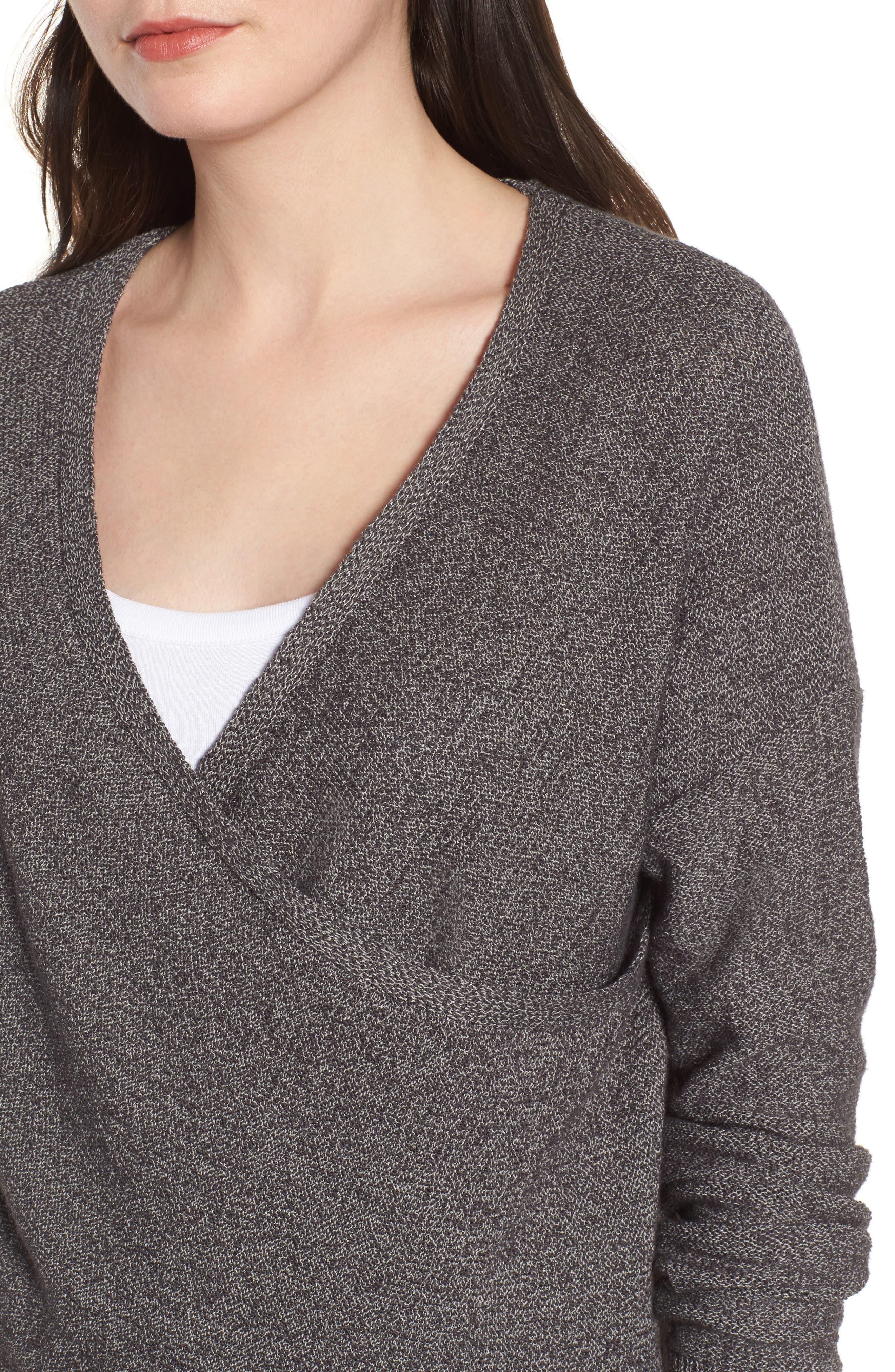 Lunar Surplice Sweater,                             Alternate thumbnail 4, color,                             020
