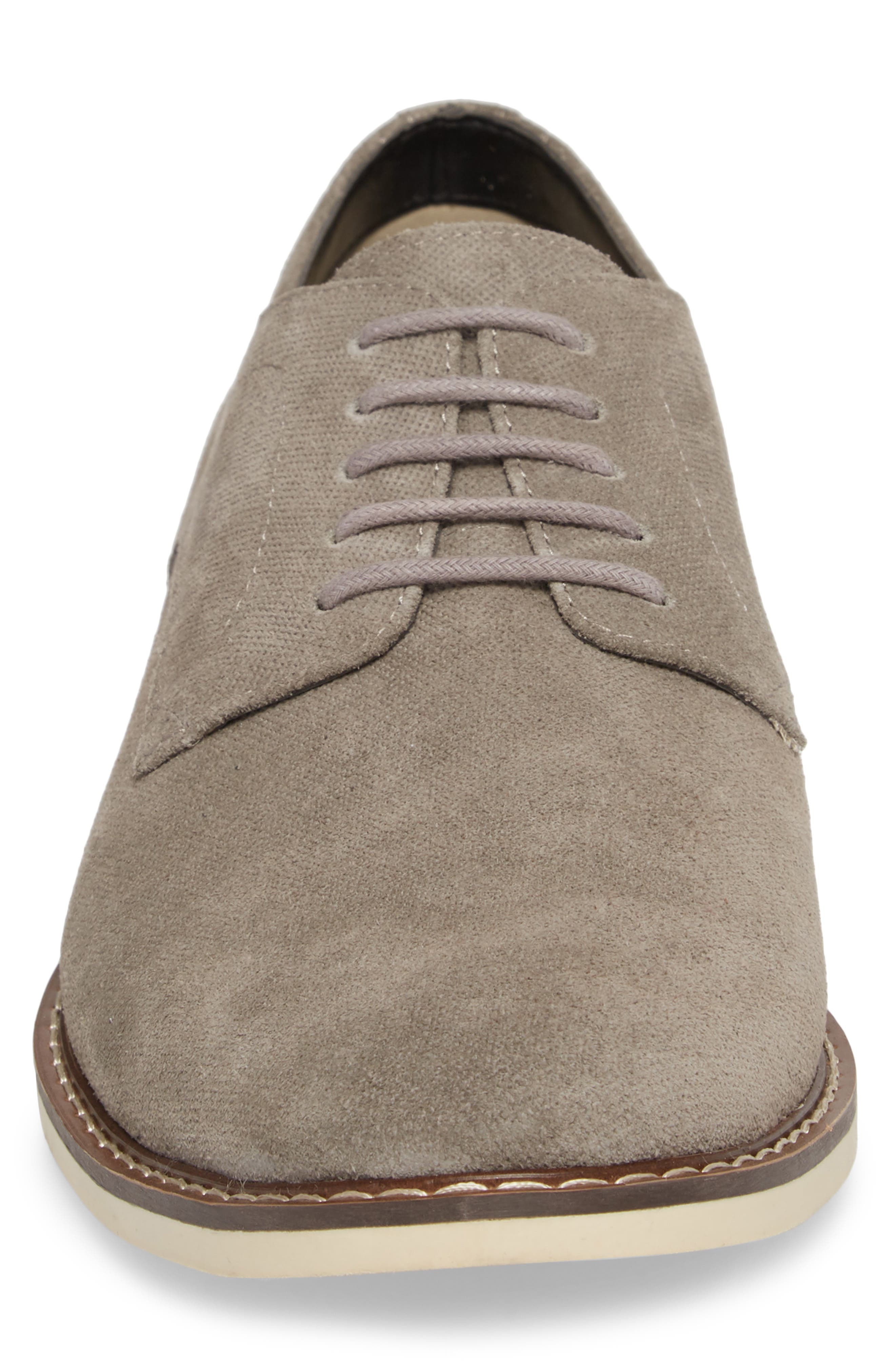 Georgetown Textured Derby,                             Alternate thumbnail 4, color,                             GREY SUEDE