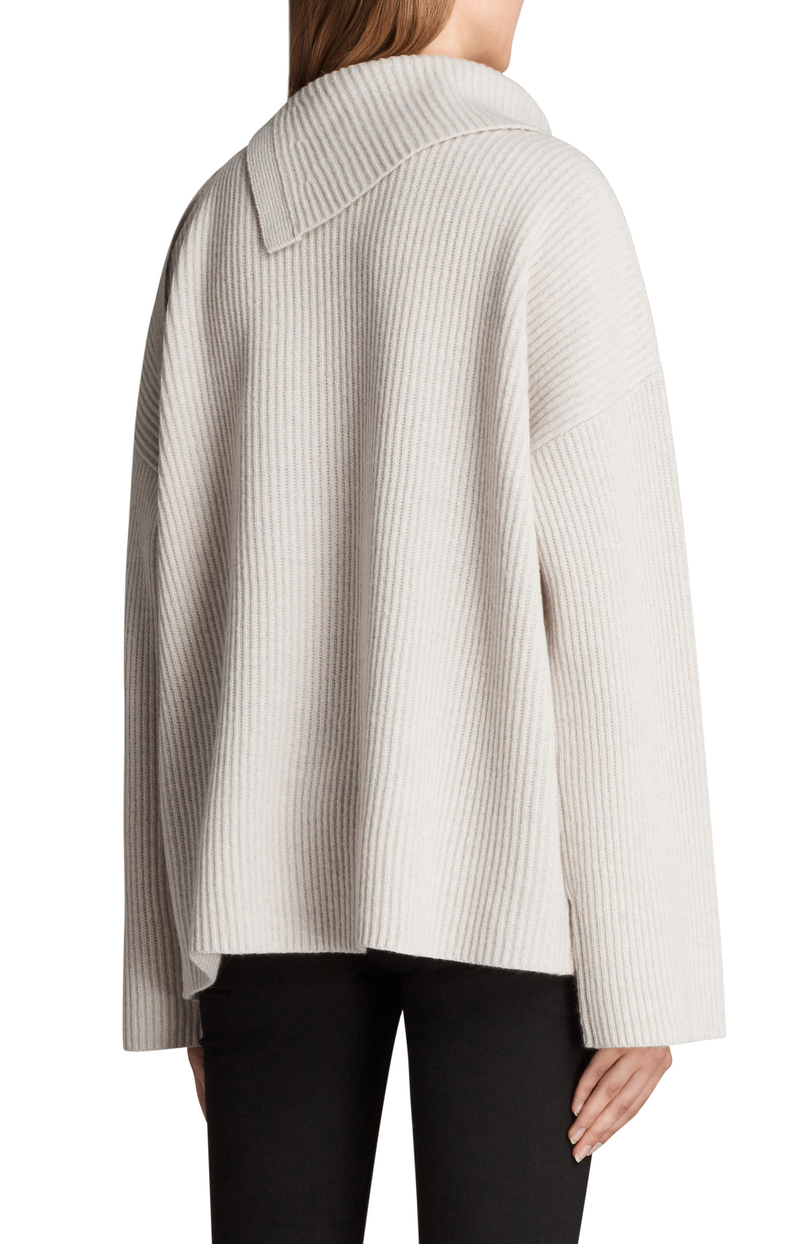 ALLSAINTS,                             Sura Tie Neck Sweater,                             Alternate thumbnail 2, color,                             252