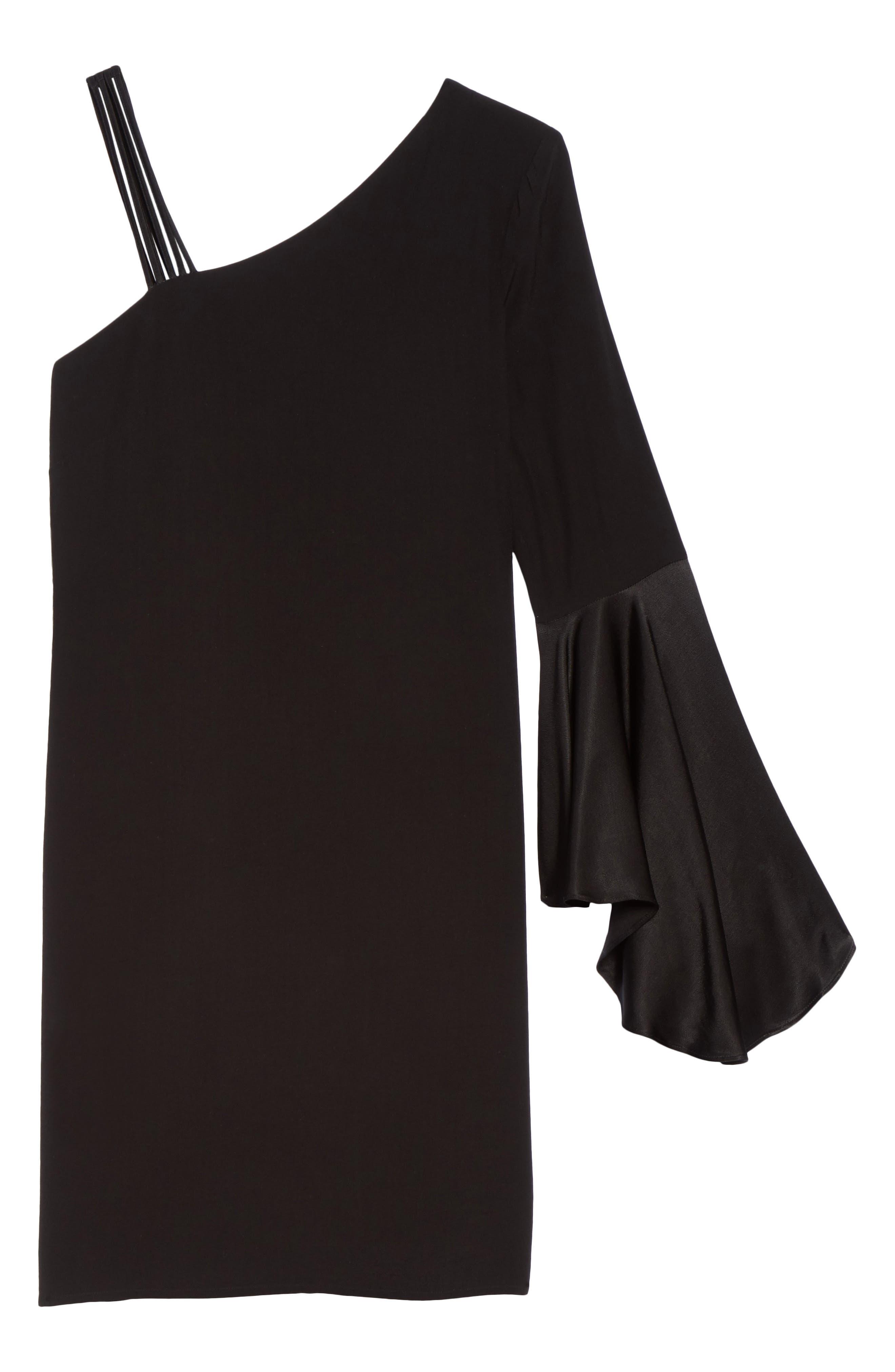 One-Shoulder Sheath Dress,                             Alternate thumbnail 6, color,                             004