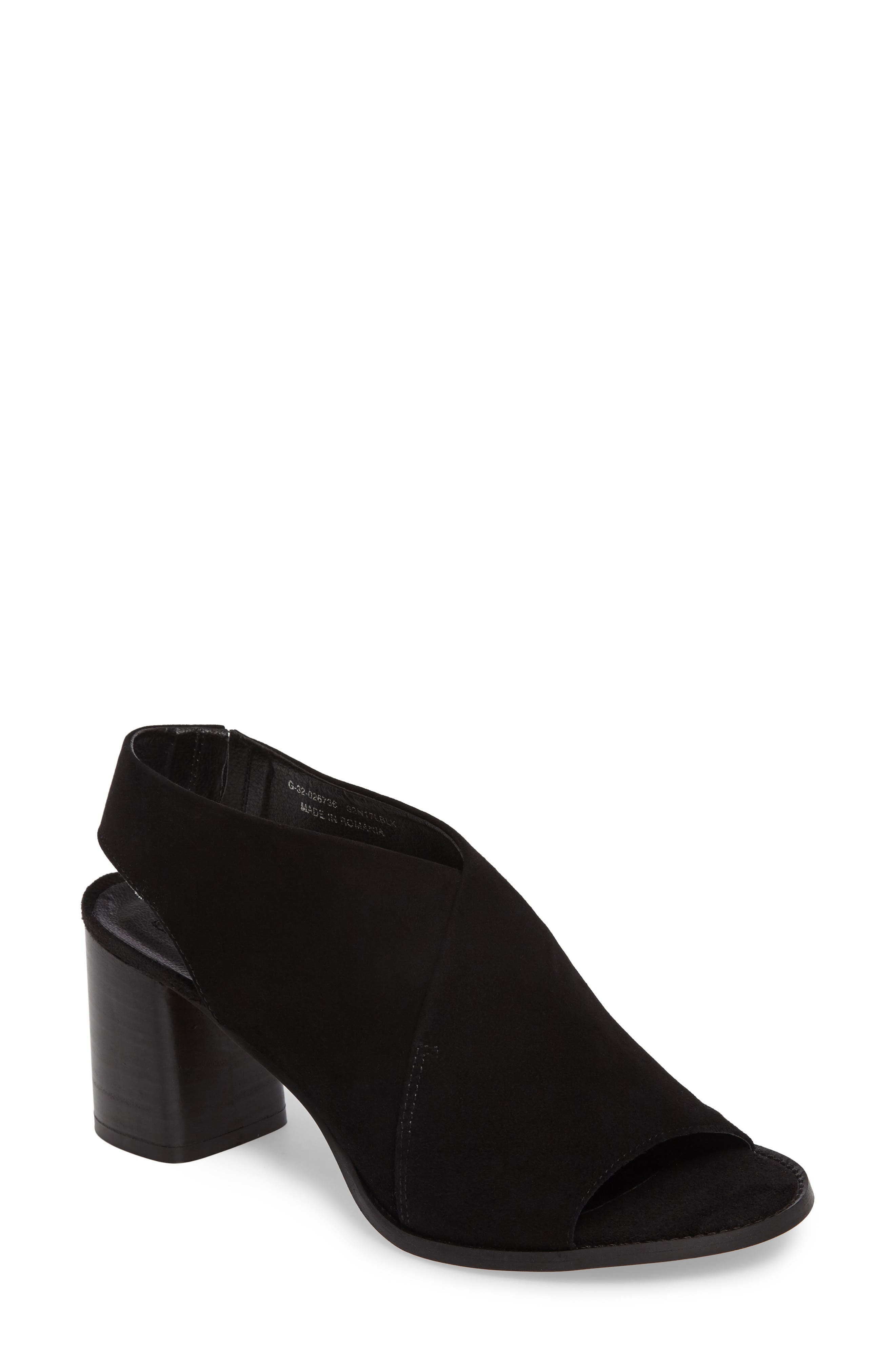 Noa Slingback Sandal,                             Main thumbnail 1, color,                             BLACK