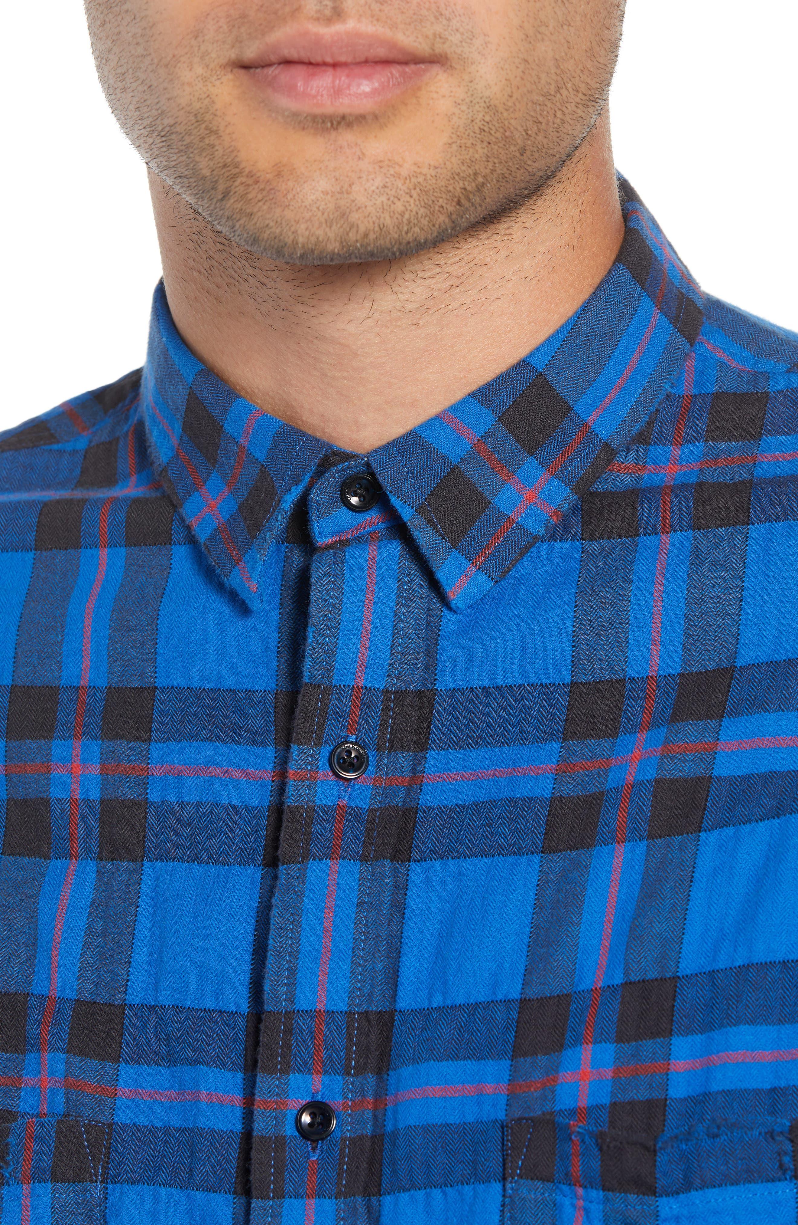 Regular Fit Plaid Sport Shirt,                             Alternate thumbnail 2, color,                             430