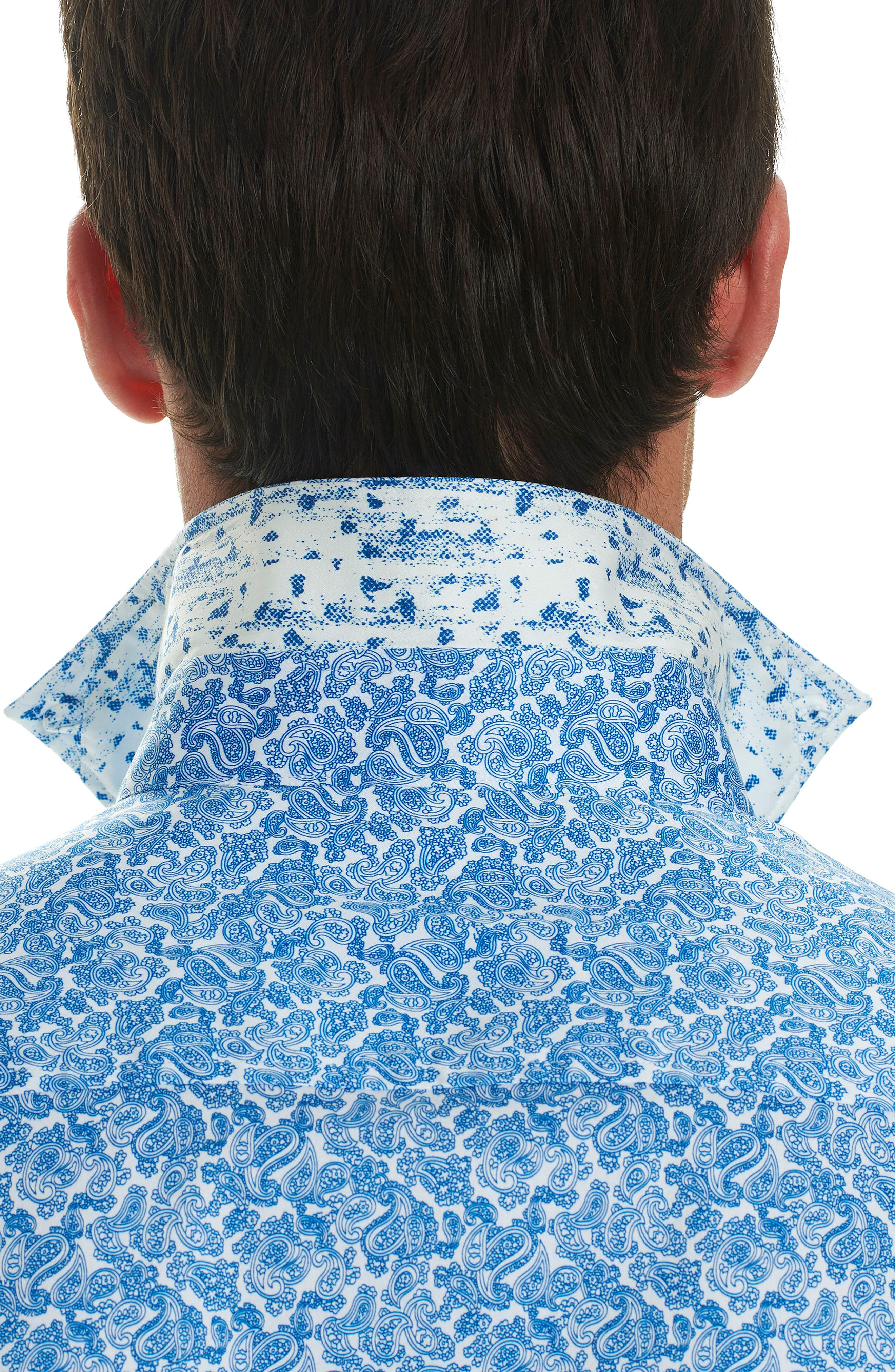 Thad Tailored Fit Paisley Sport Shirt,                             Alternate thumbnail 7, color,