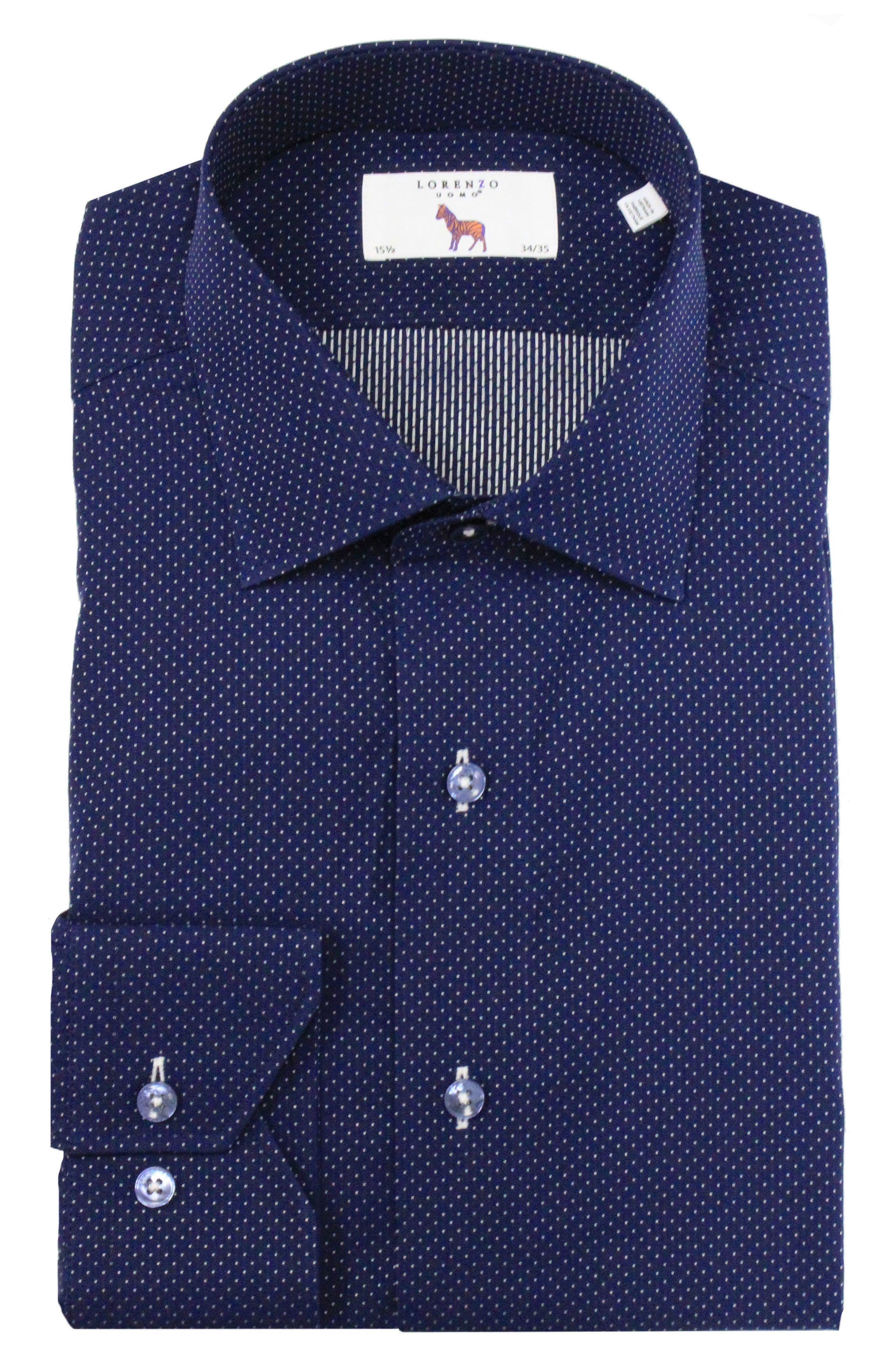 Trim Fit Dot Dress Shirt,                         Main,                         color, 410