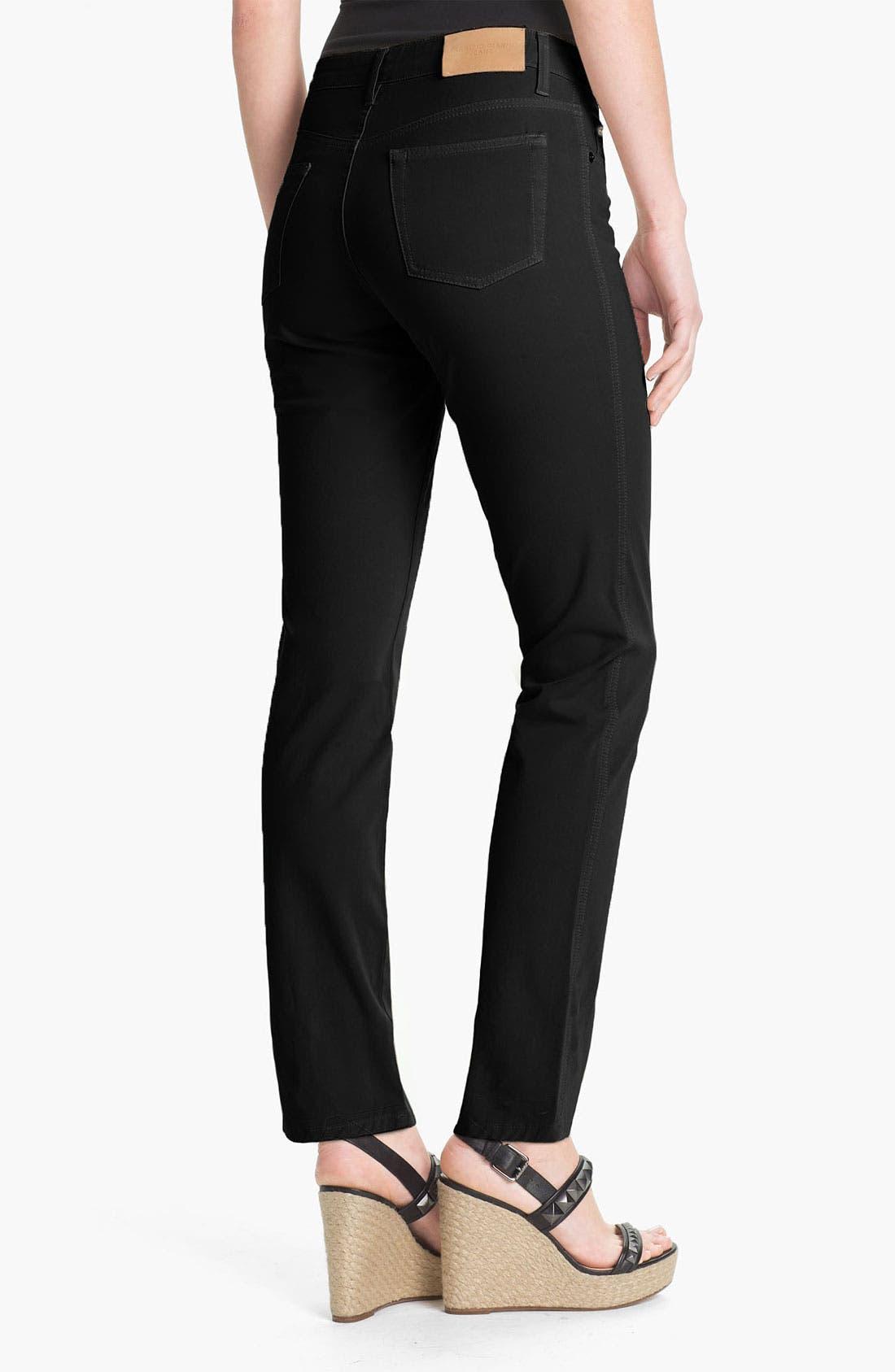 FABRIZIO GIANNI,                             5-Pocket Slim Stretch Jeans,                             Alternate thumbnail 3, color,                             001