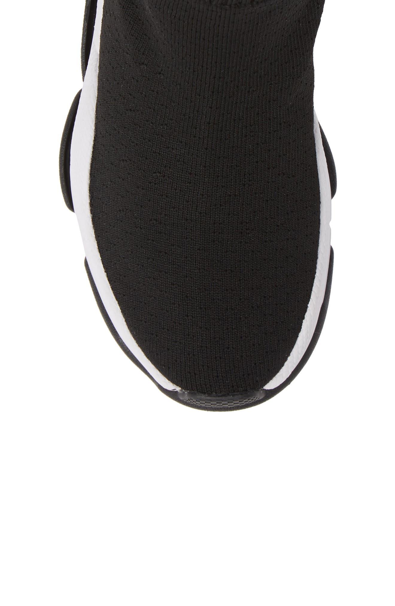 Tenko Ankle High Top Sock Sneaker,                             Alternate thumbnail 5, color,                             BLACK