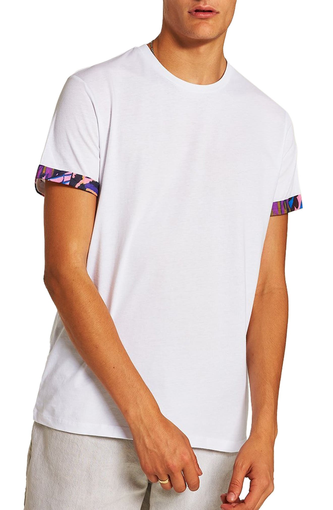 Mosaic Roller T-Shirt,                         Main,                         color, WHITE MULTI