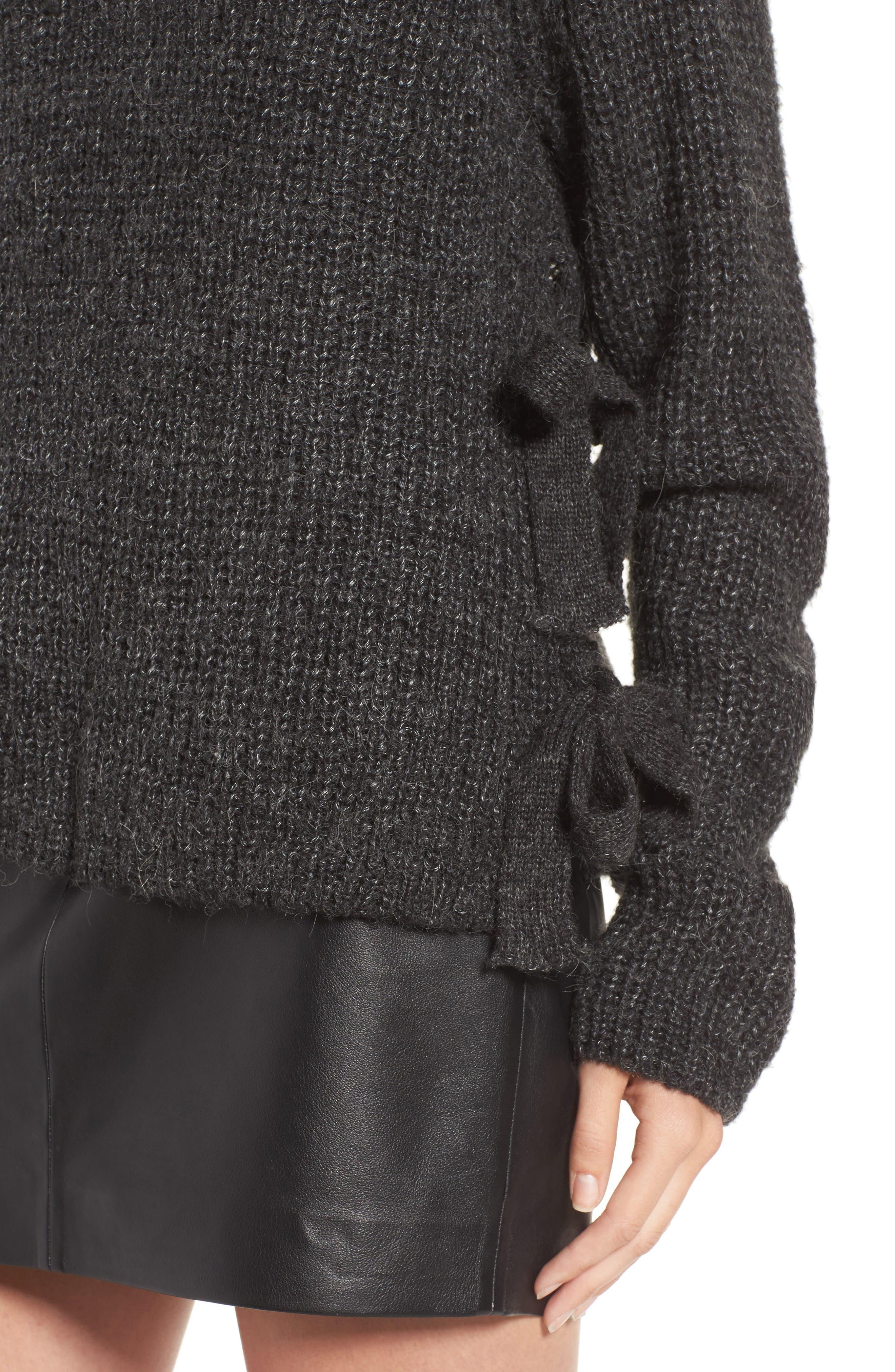 Lexie Side Tie Sweater,                             Alternate thumbnail 4, color,                             020