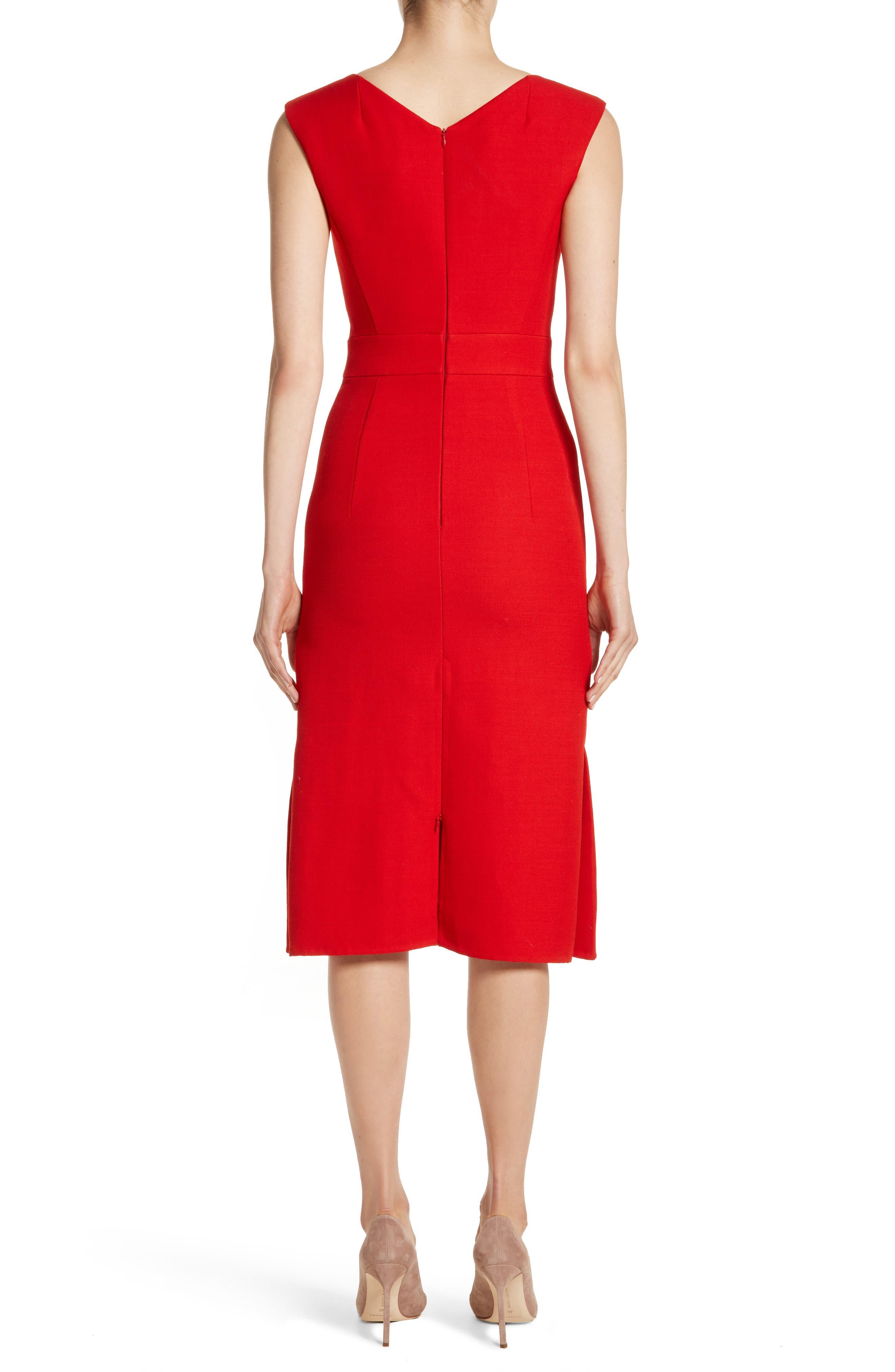 Double Face Wool & Silk Dress,                             Alternate thumbnail 2, color,                             600