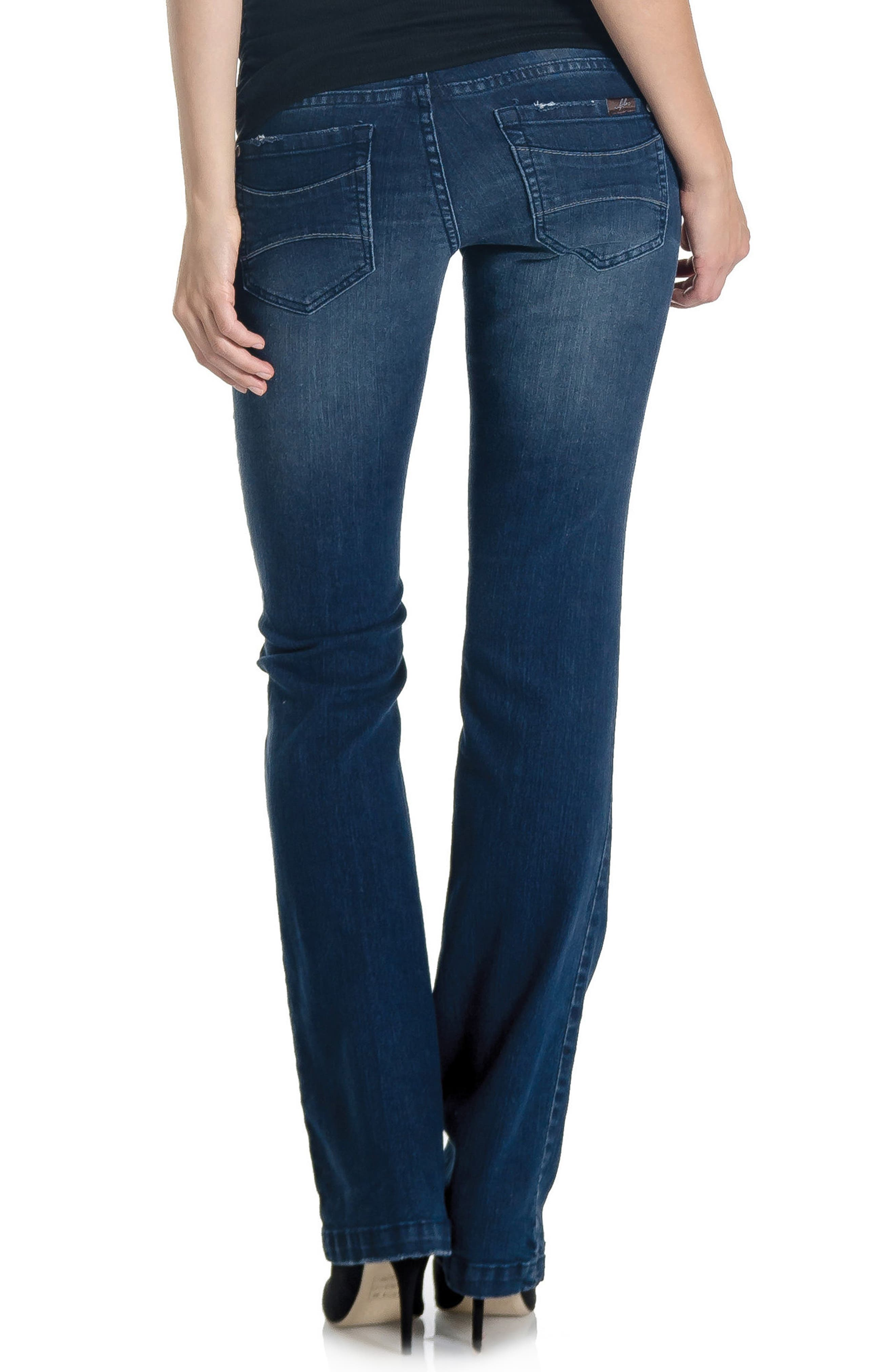 'Signature' Bootcut Maternity Stretch Jeans,                             Alternate thumbnail 4, color,