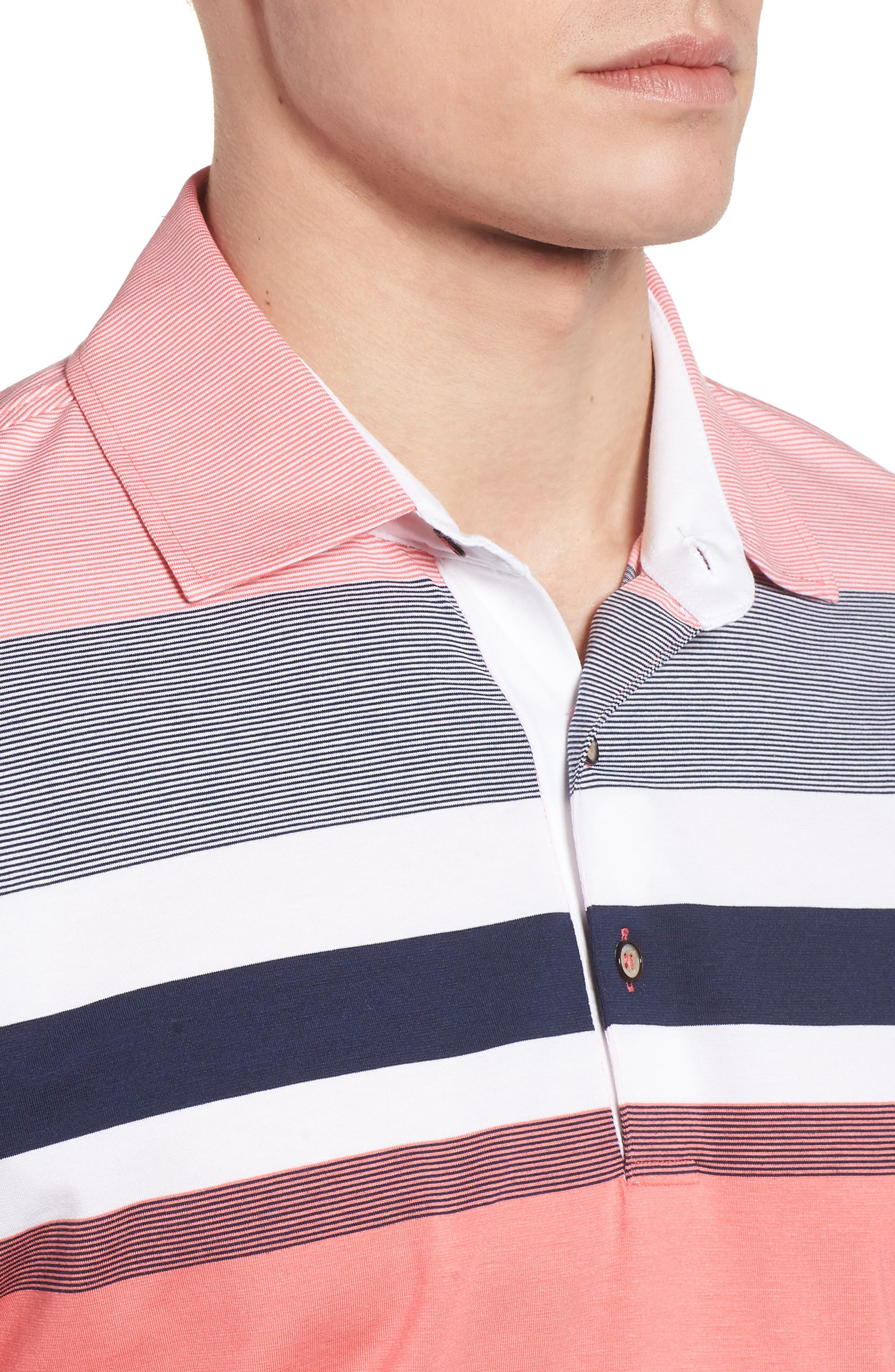 Horizon Stripe Polo,                             Alternate thumbnail 8, color,