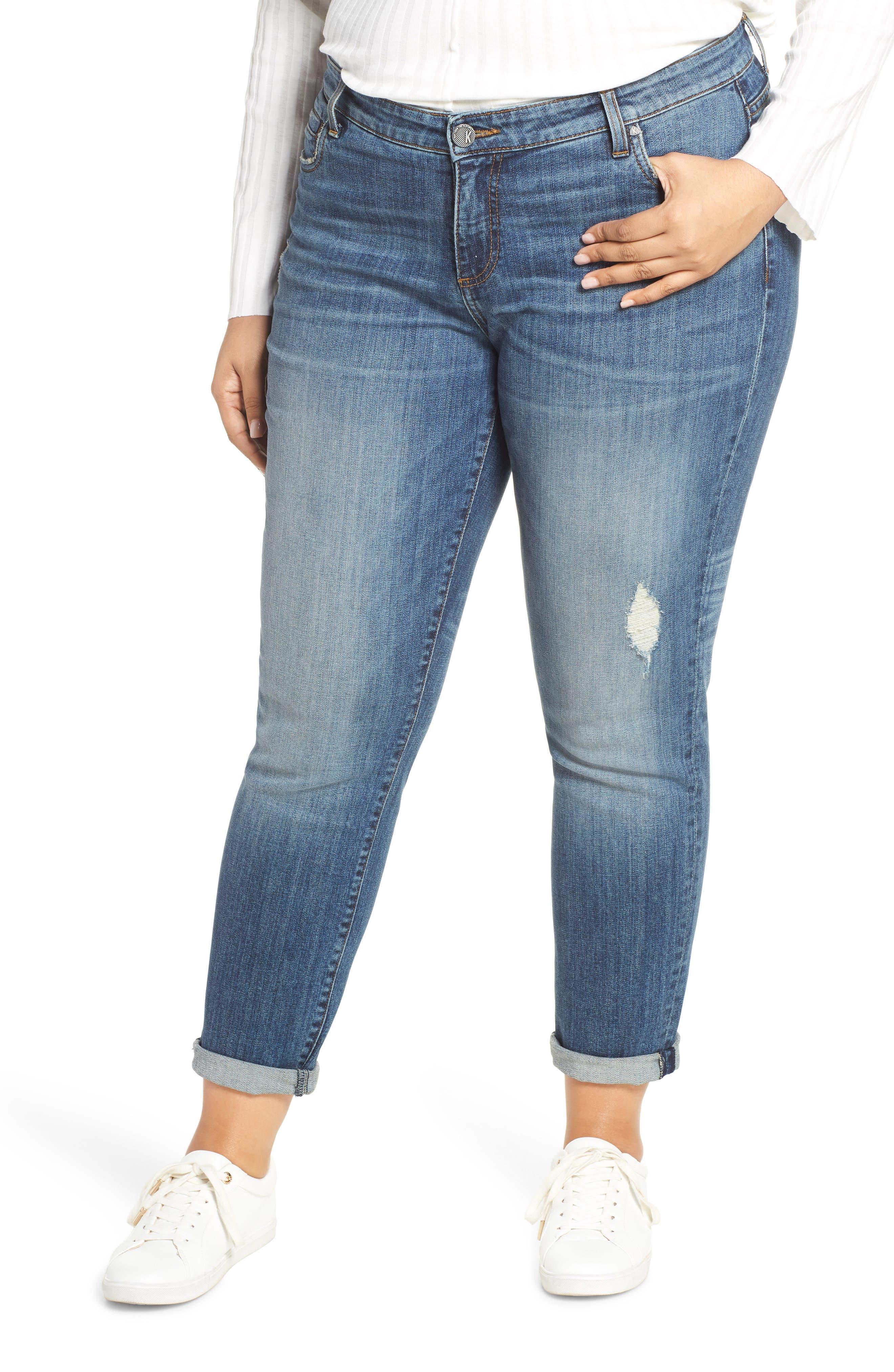 Plus Size Kut From The Kloth Catherine Slim Boyfriend Jeans, Blue