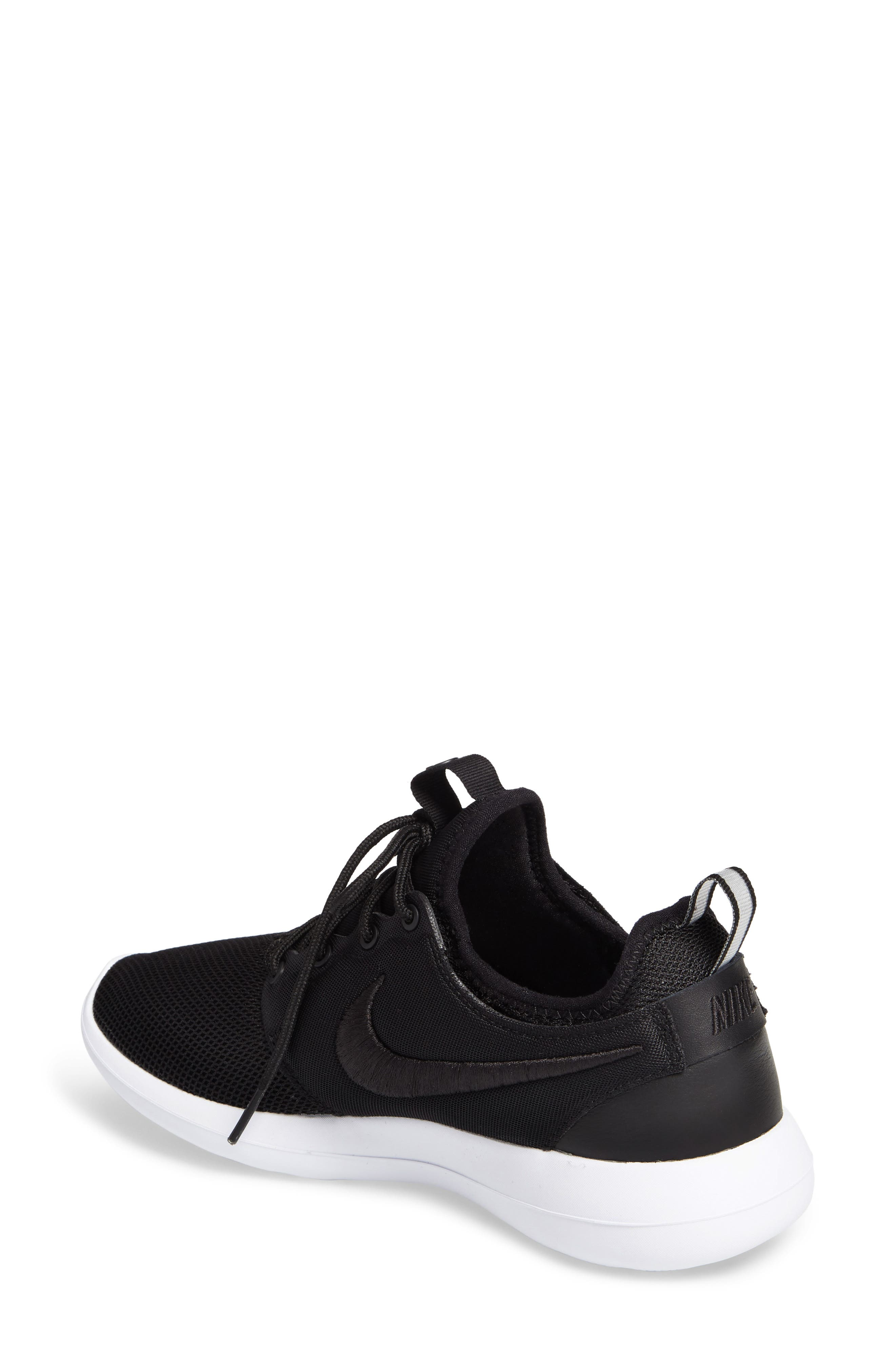 Roshe Two Breathe Sneaker,                             Alternate thumbnail 2, color,                             001