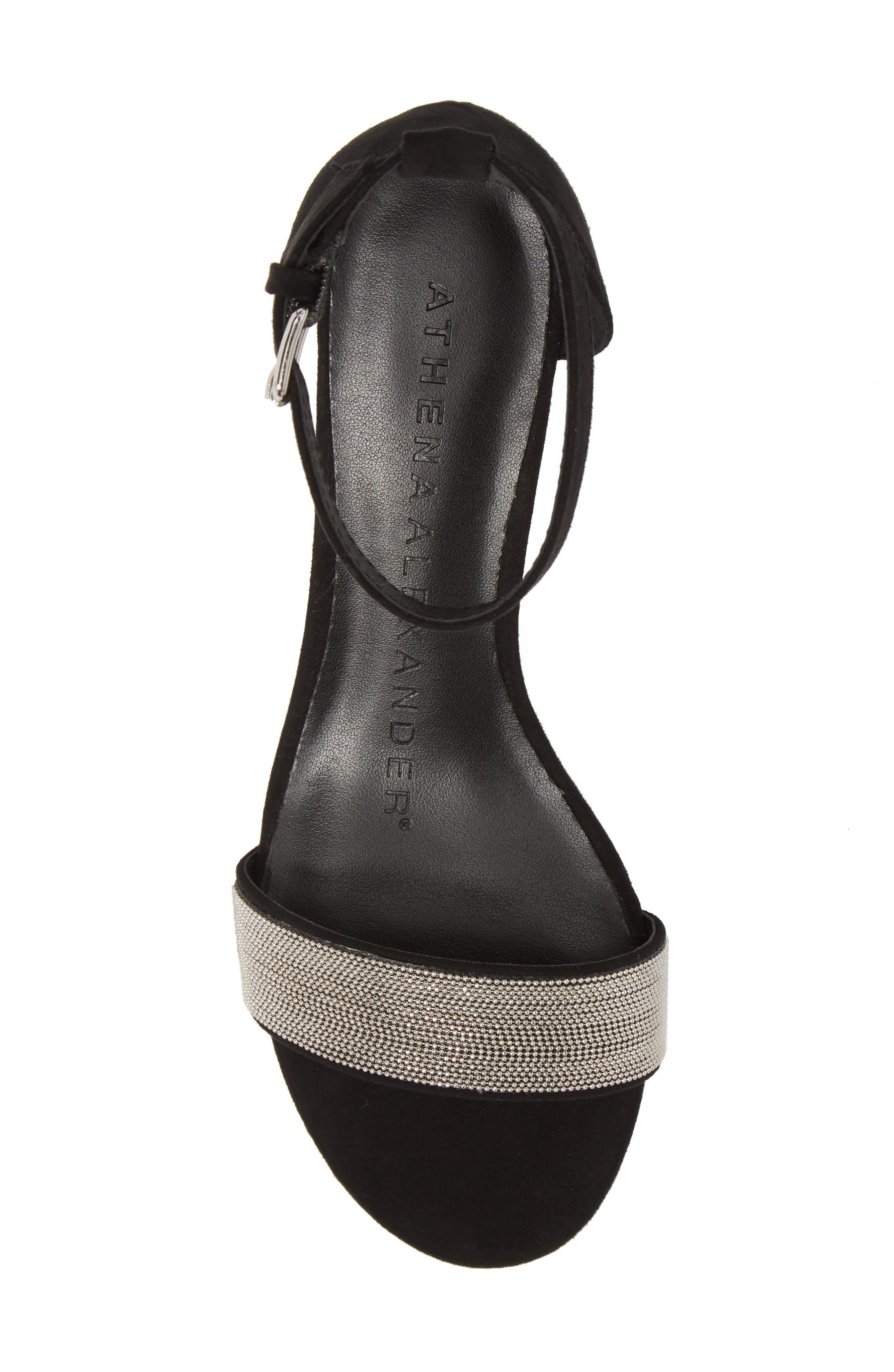 Enfield Ankle Strap Wedge Sandal,                             Alternate thumbnail 5, color,                             003