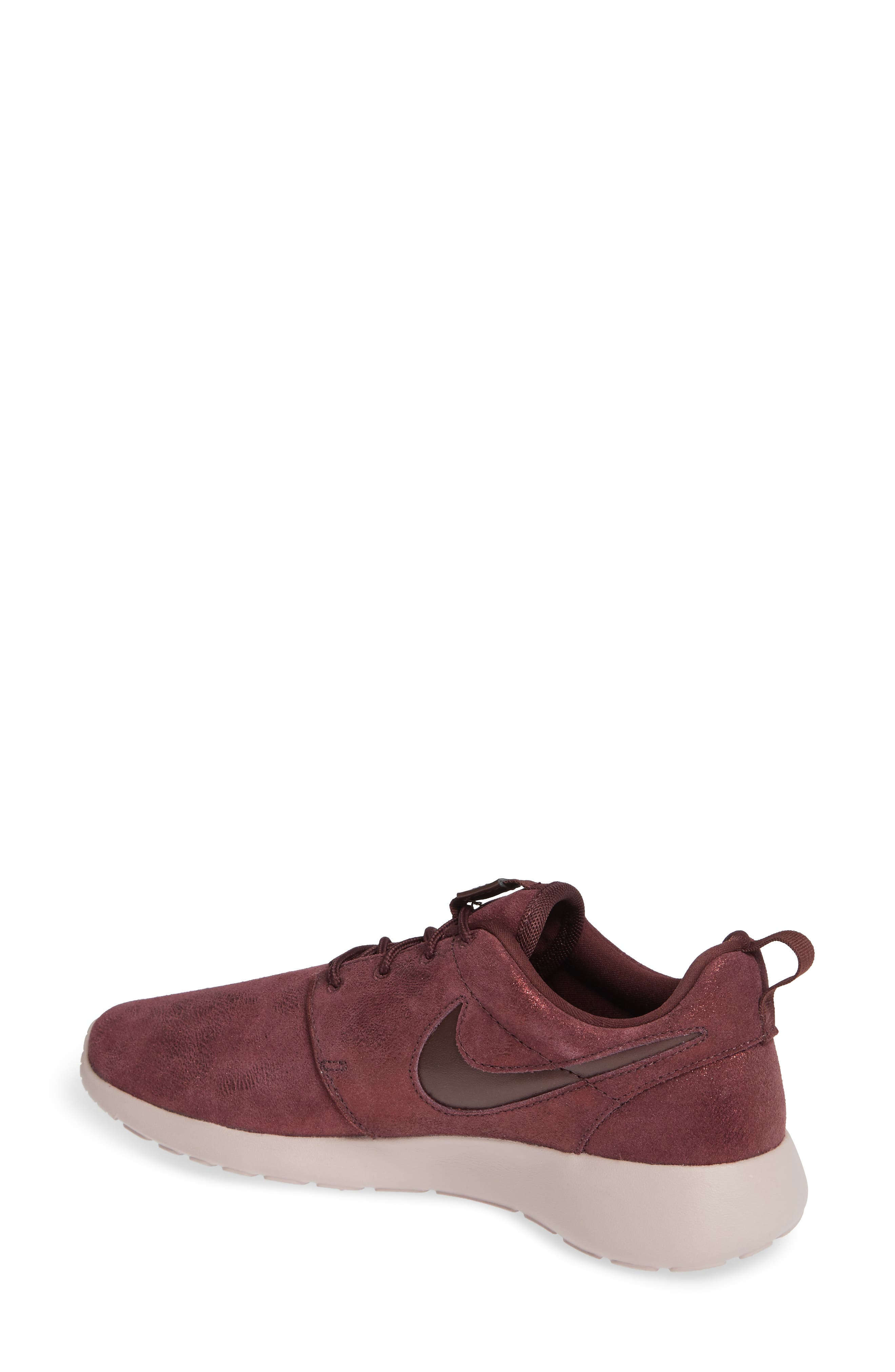 'Roshe Run' Print Sneaker,                             Alternate thumbnail 2, color,                             METALLIC MAHOGANY/ MAHOGANY