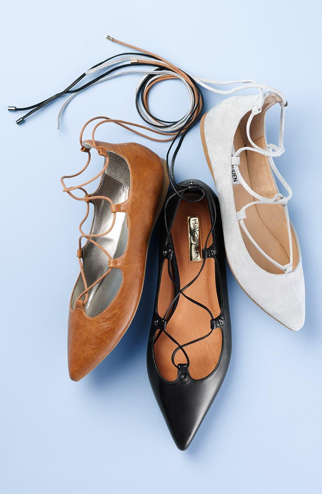 STEVE MADDEN,                             'Eleanorr' Ballet Flat,                             Main thumbnail 1, color,                             001