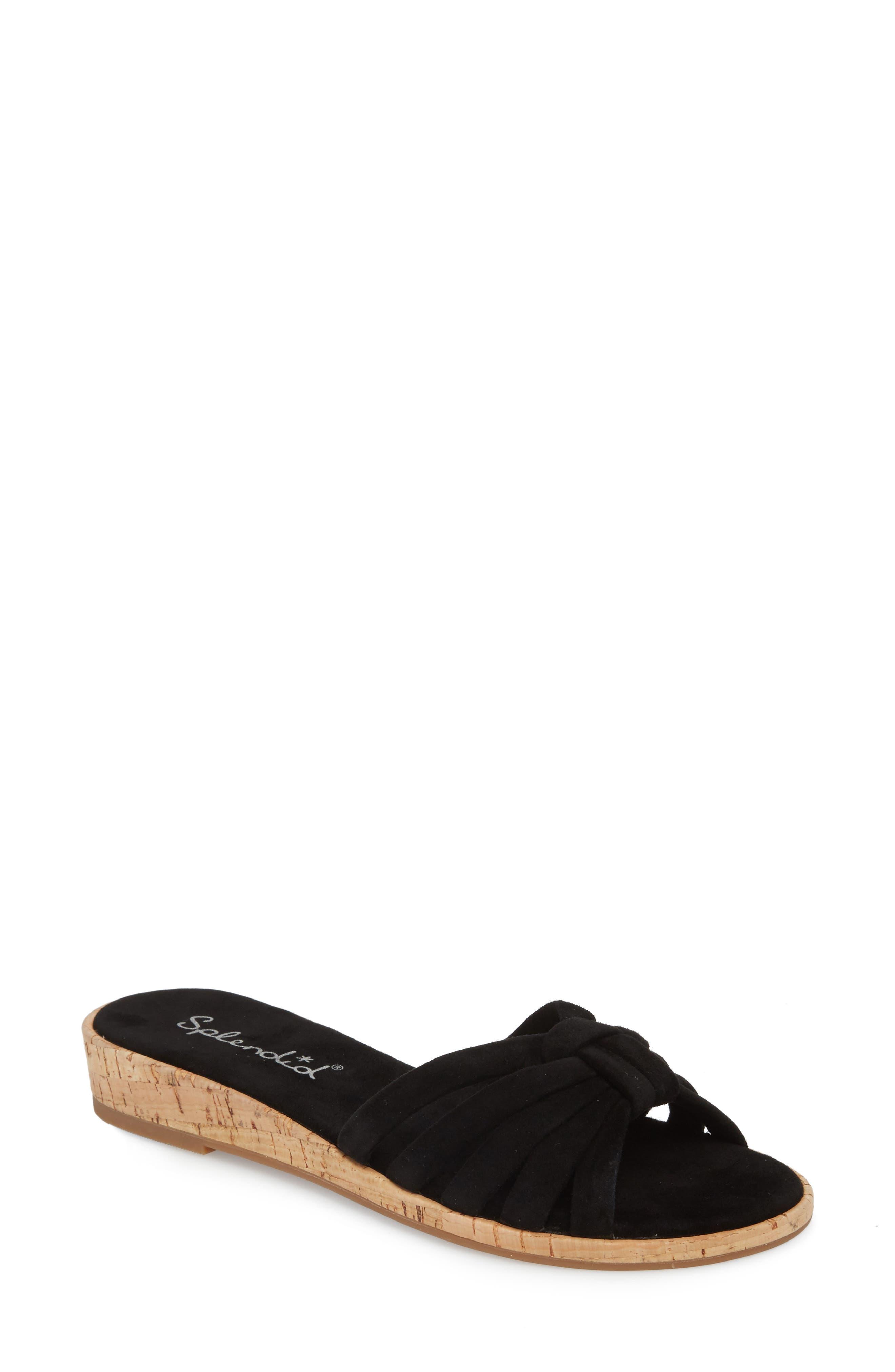 Faith Sandal,                         Main,                         color, BLACK SUEDE