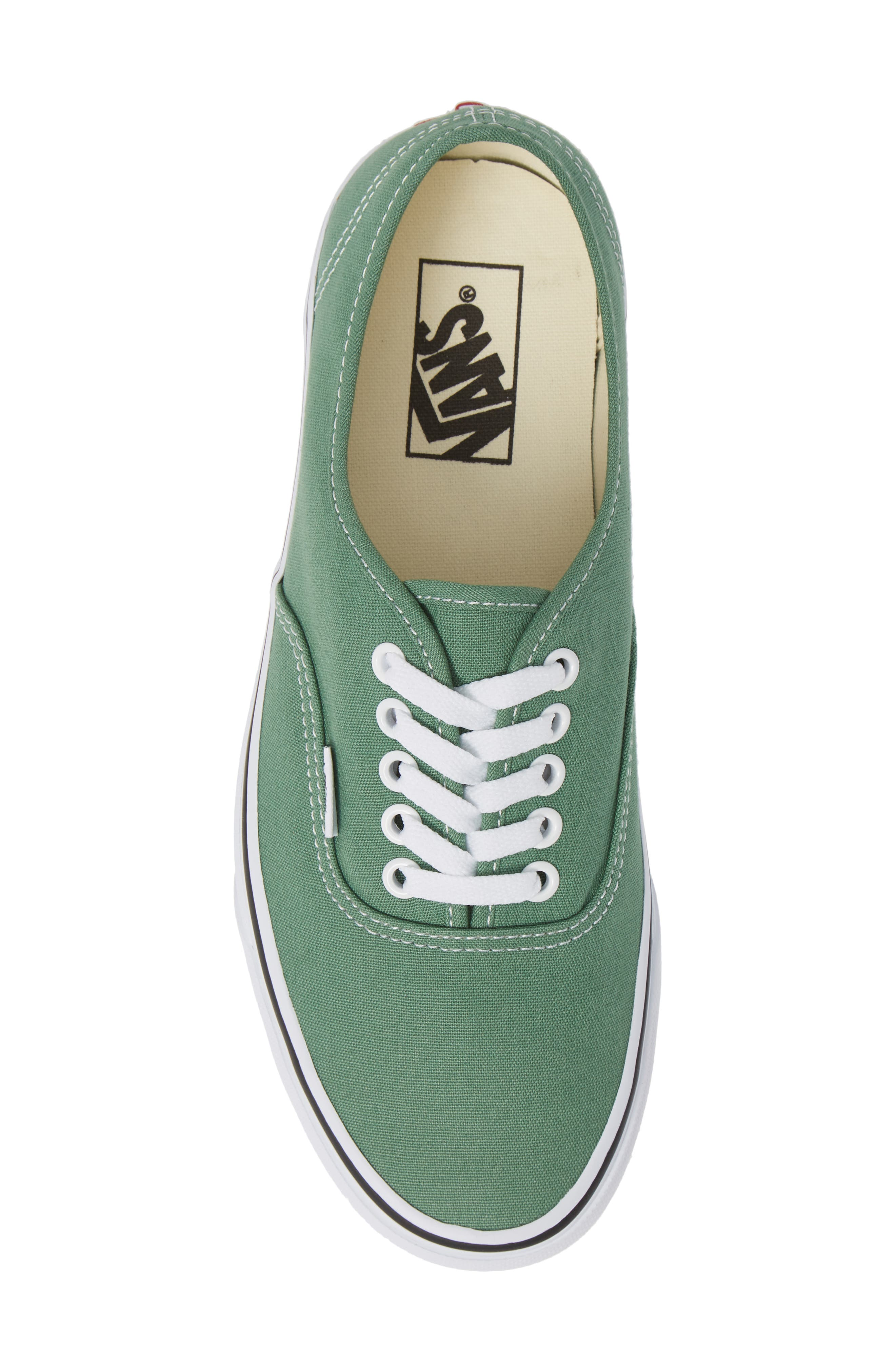 VANS,                             'Authentic' Sneaker,                             Alternate thumbnail 5, color,                             DEEP GRASS GREEN/ TRUE WHITE