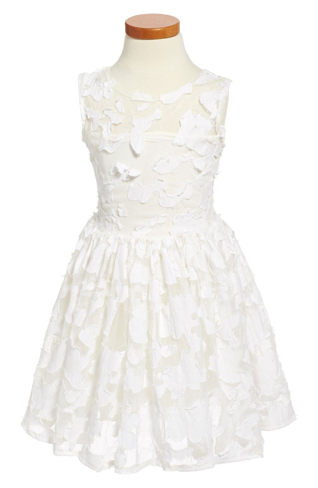 'Pretty in Ivory' Party Dress,                             Main thumbnail 1, color,