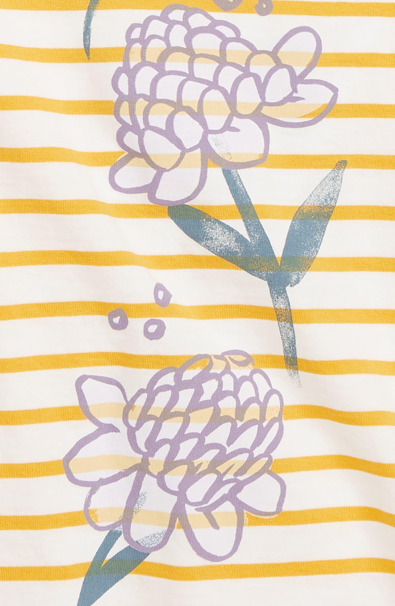 Ginger Flower High/Low Tunic,                             Alternate thumbnail 2, color,                             SULPHUR