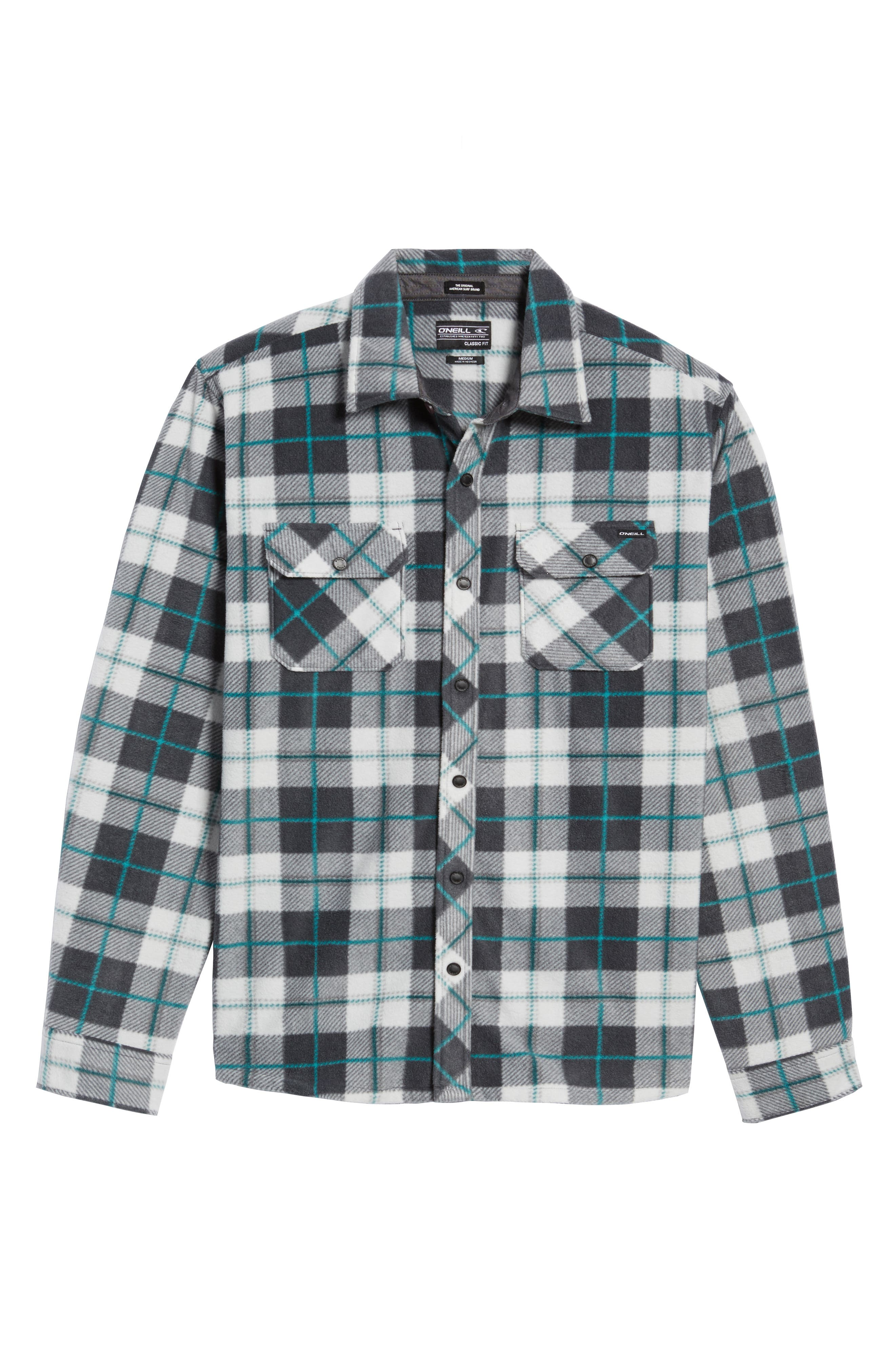 Glacier Plaid Fleece Flannel Shirt,                             Alternate thumbnail 29, color,