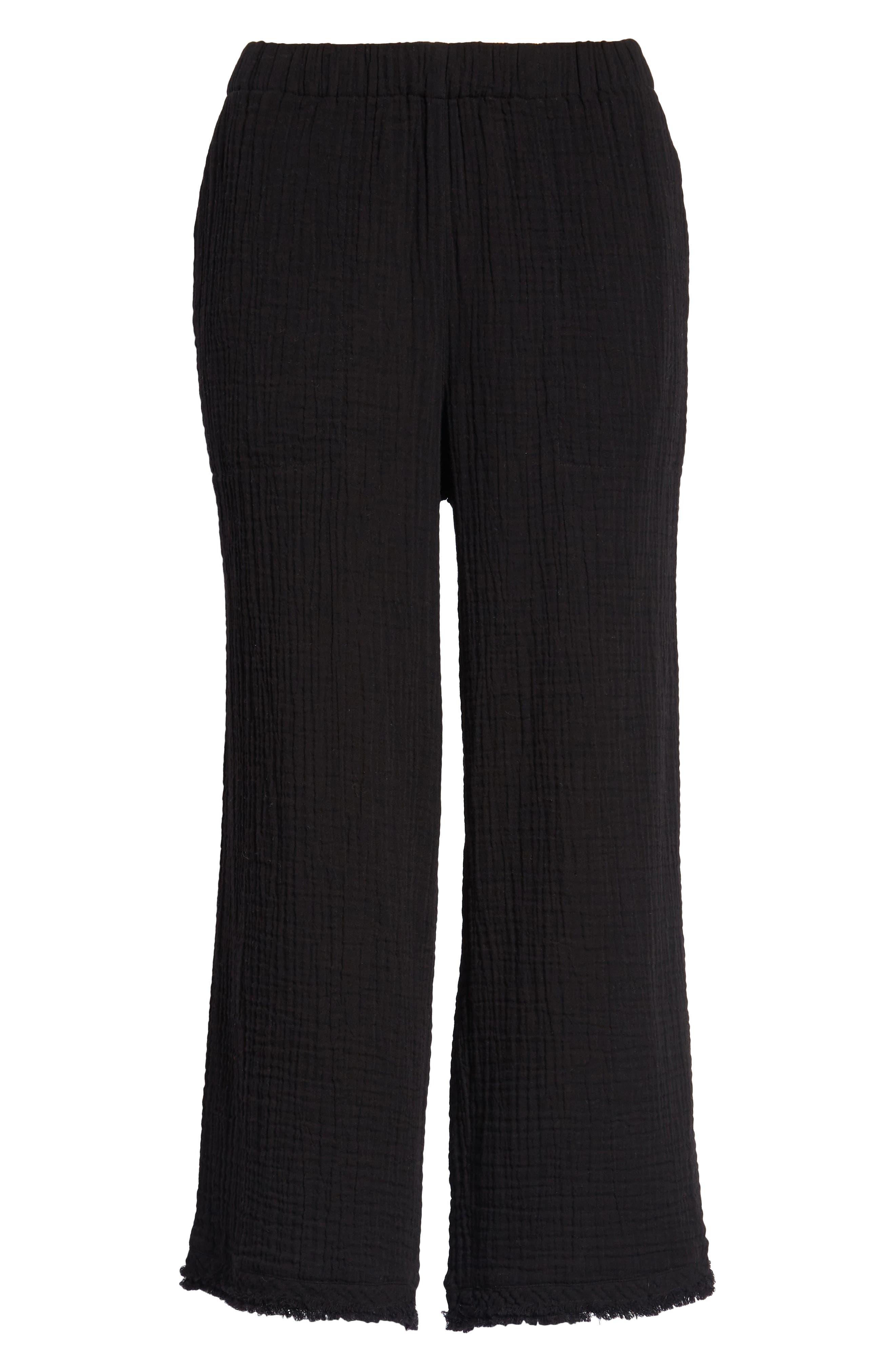 Organic Cotton Crop Pants,                             Alternate thumbnail 7, color,                             001