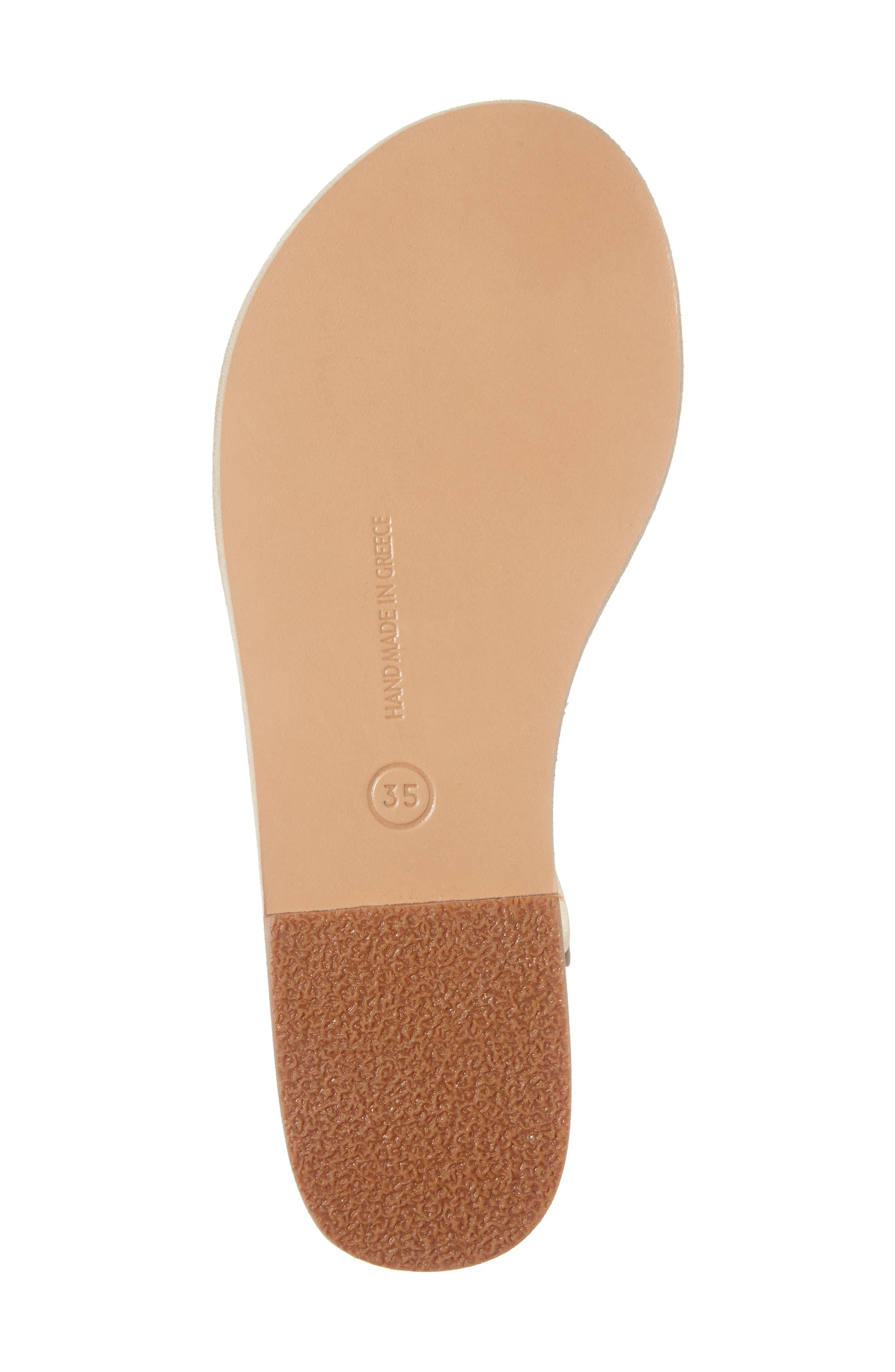 Lito Imitation Pearl Embellished T-Strap Sandal,                             Alternate thumbnail 6, color,                             040