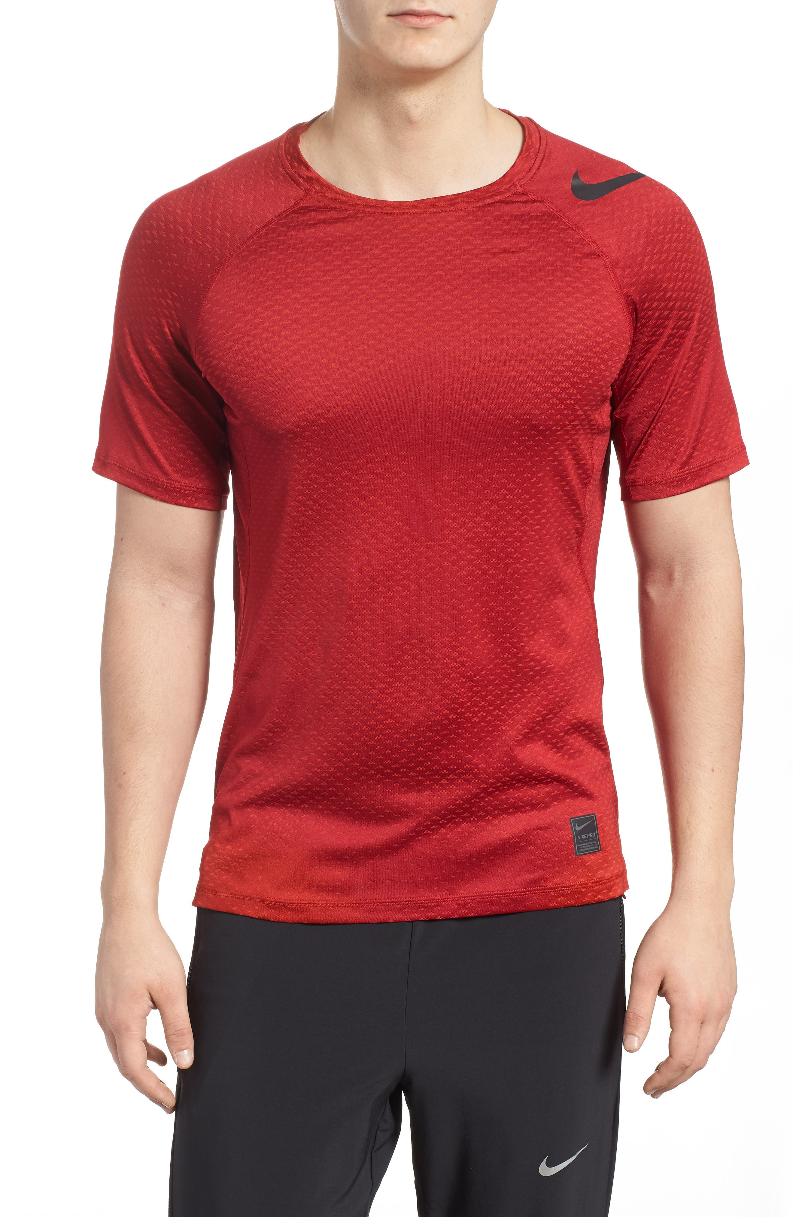 Pro HyperCool Fitted Crewneck T-Shirt,                             Main thumbnail 3, color,