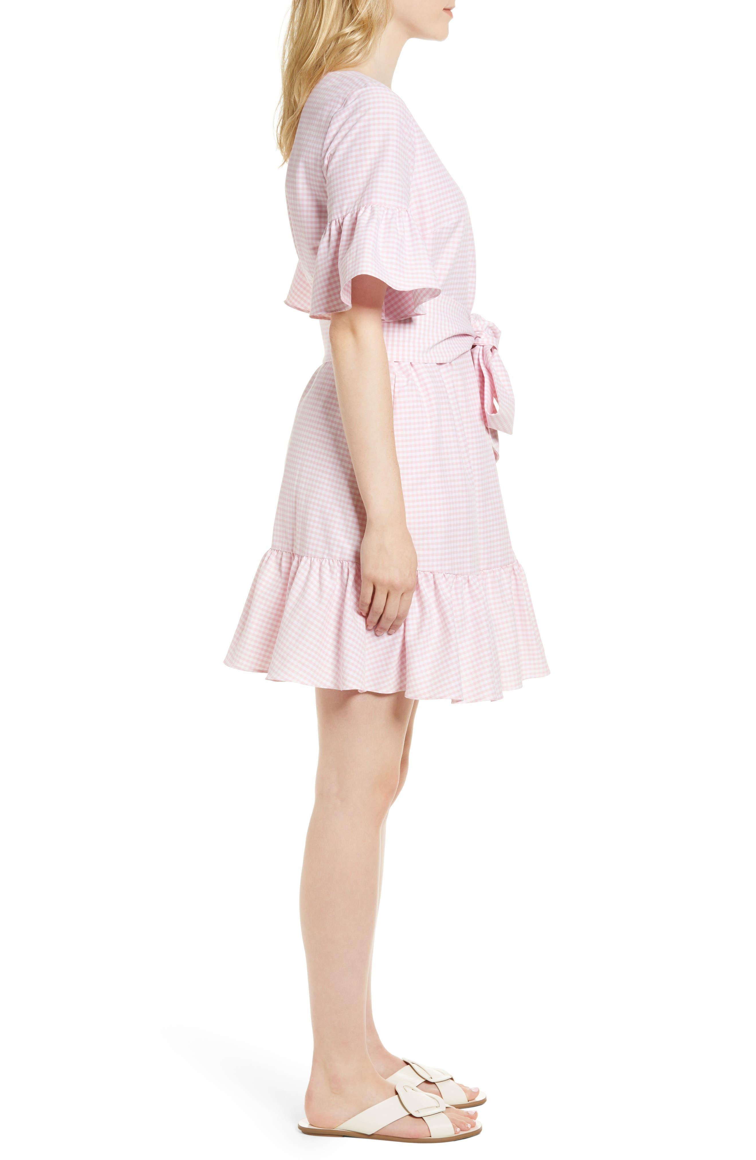 Ruffle & Bow Dress,                             Alternate thumbnail 9, color,