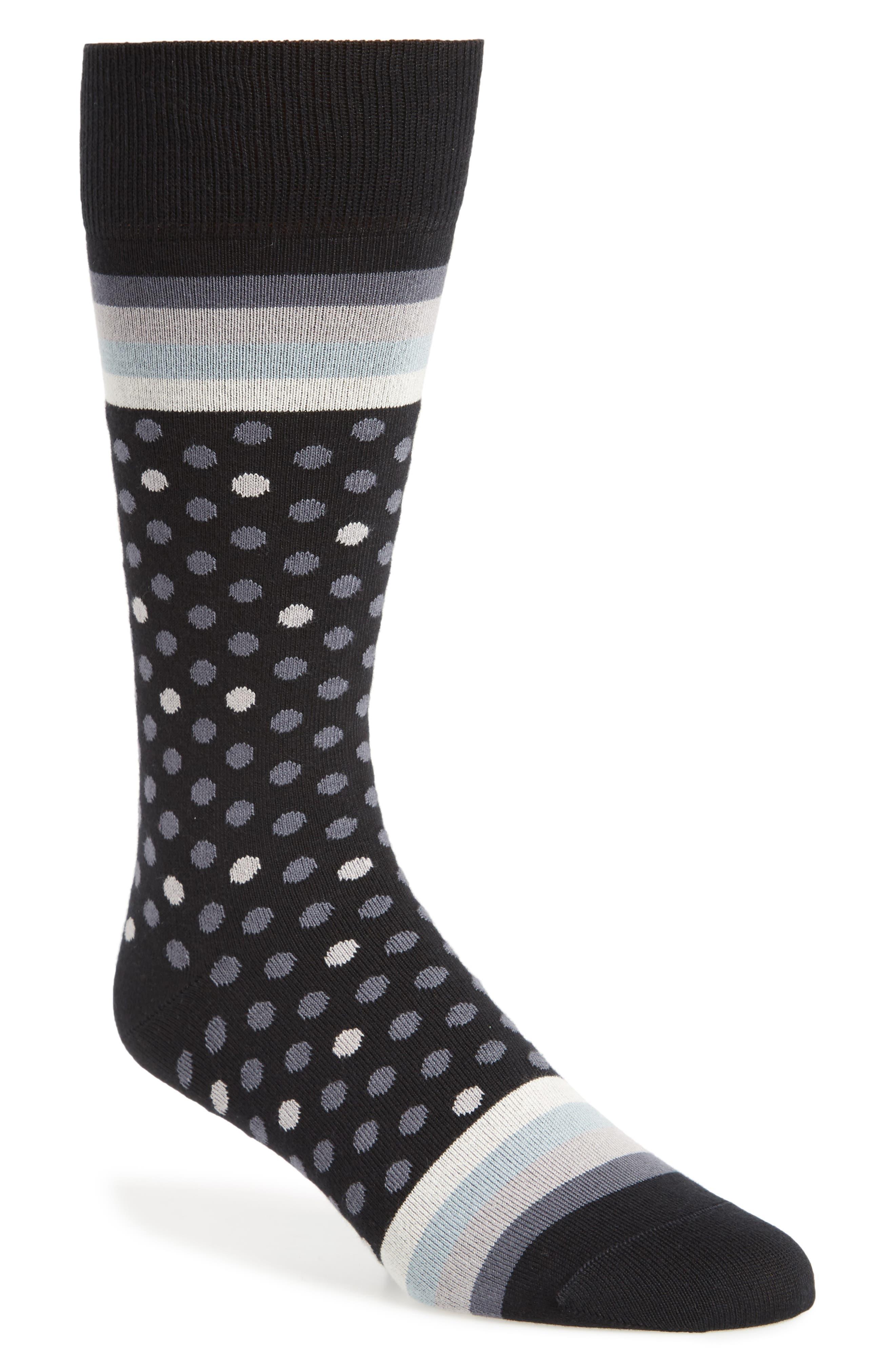 Dot & Stripe Socks,                             Main thumbnail 1, color,                             009