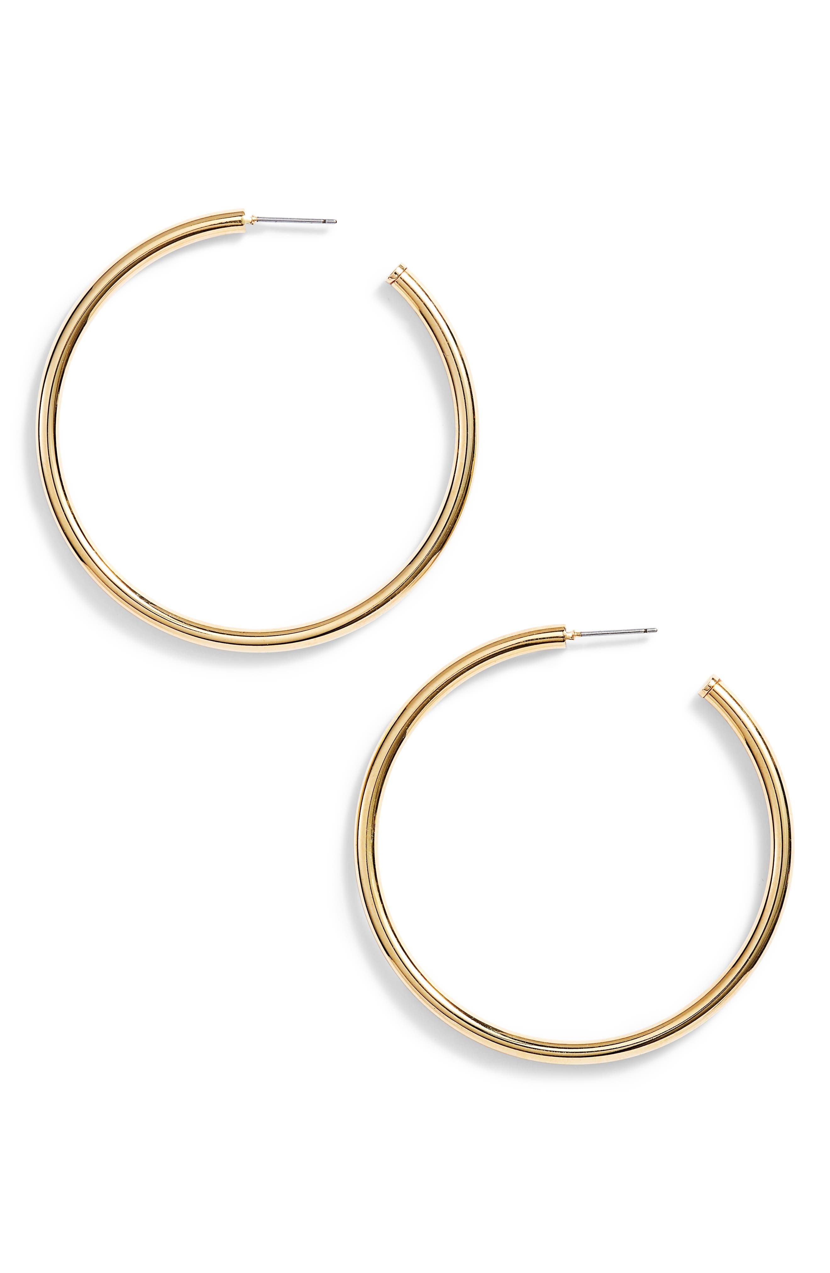 Rounded Tube Oversize Hoop Earrings,                             Main thumbnail 2, color,