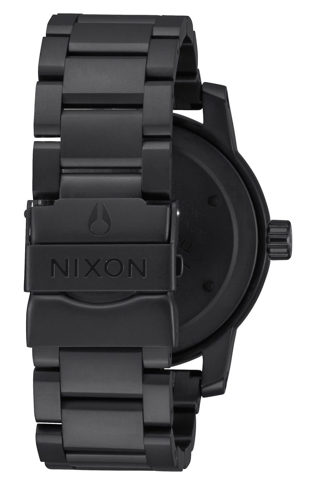 'Patriot' Round Bracelet Watch, 45mm,                             Alternate thumbnail 3, color,                             001