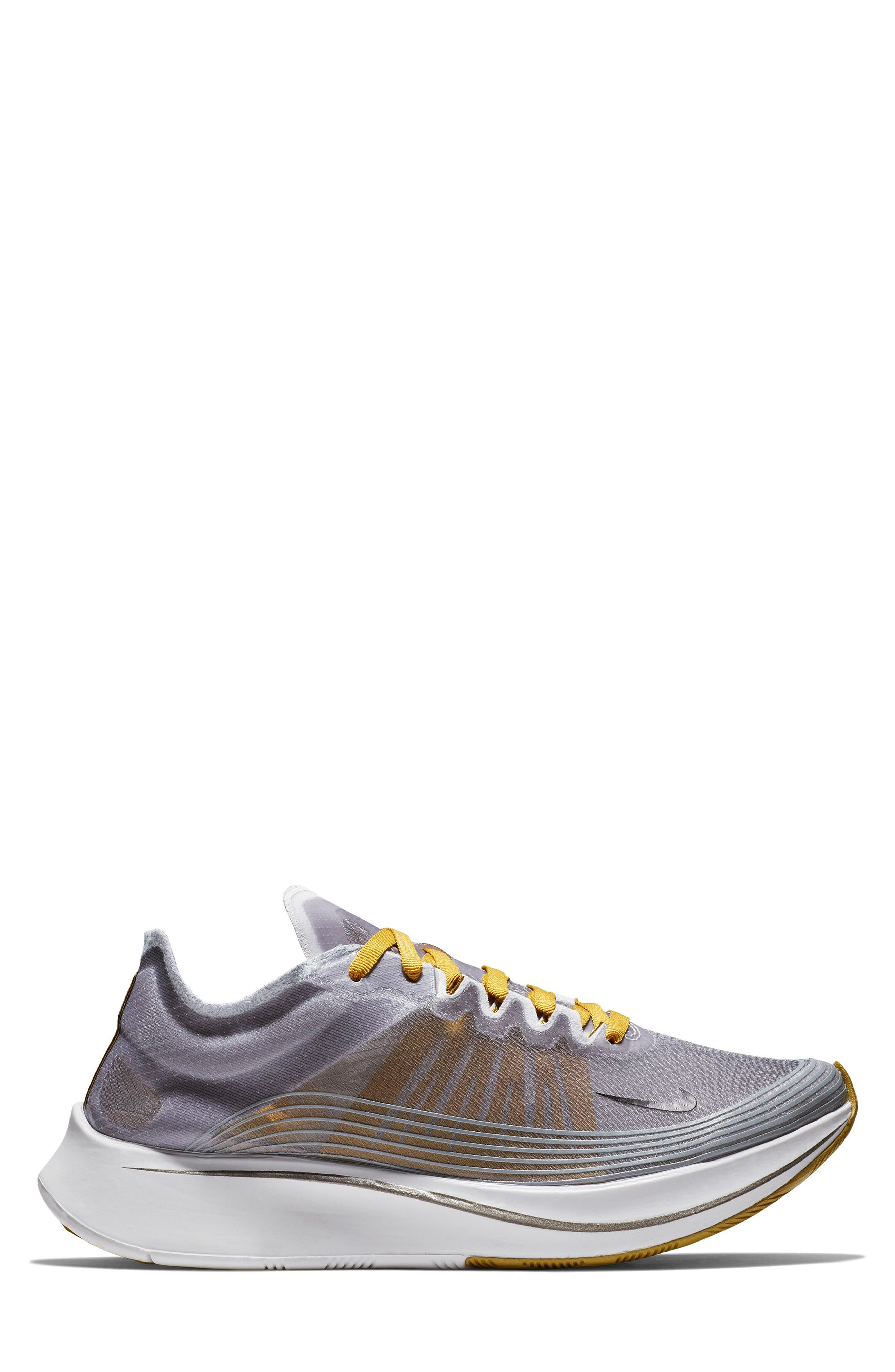 Zoom Fly SP Running Shoe,                             Alternate thumbnail 3, color,                             BLACK/ PEAT MOSS/ WHITE